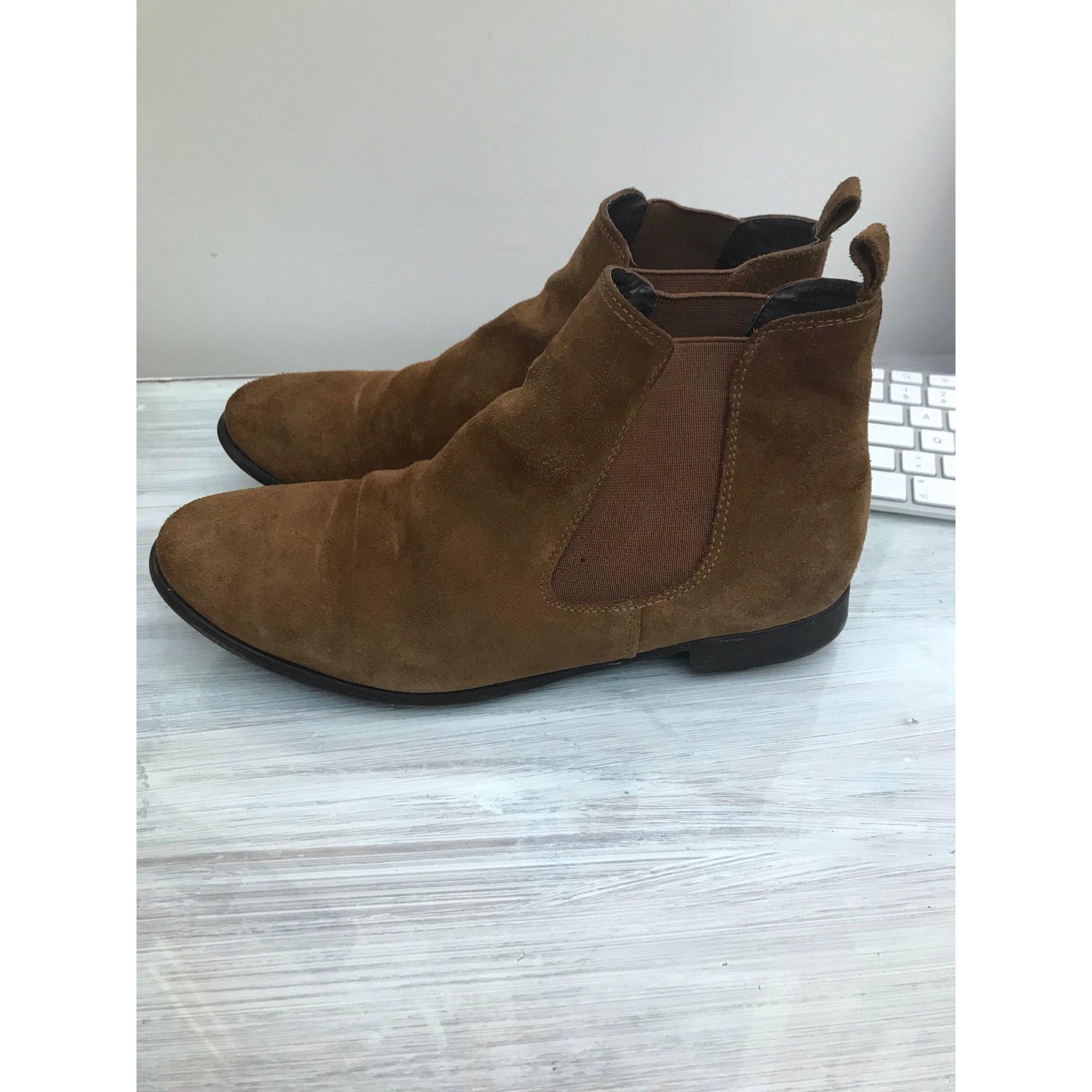 Bottines & low boots plates LA HALLE AUX CHAUSSURES Beige, camel