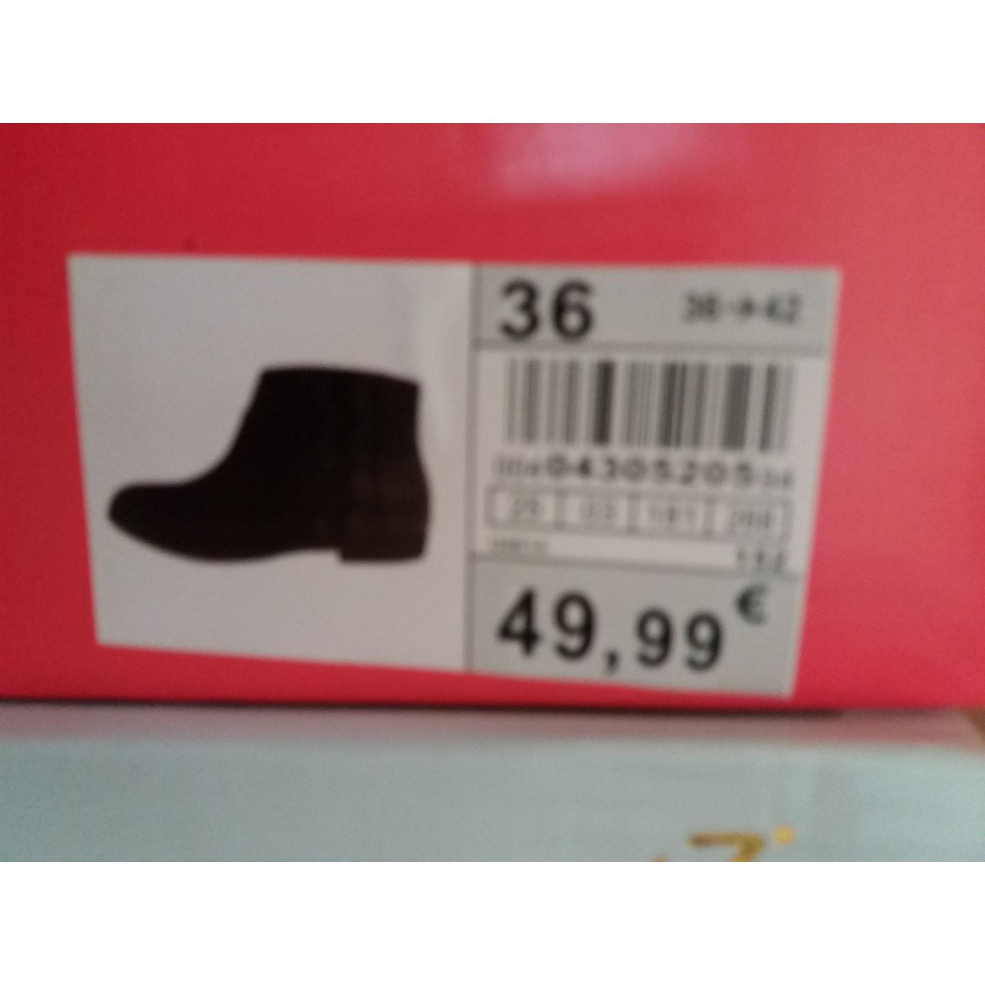Bottines & low boots plates NAF NAF Noir