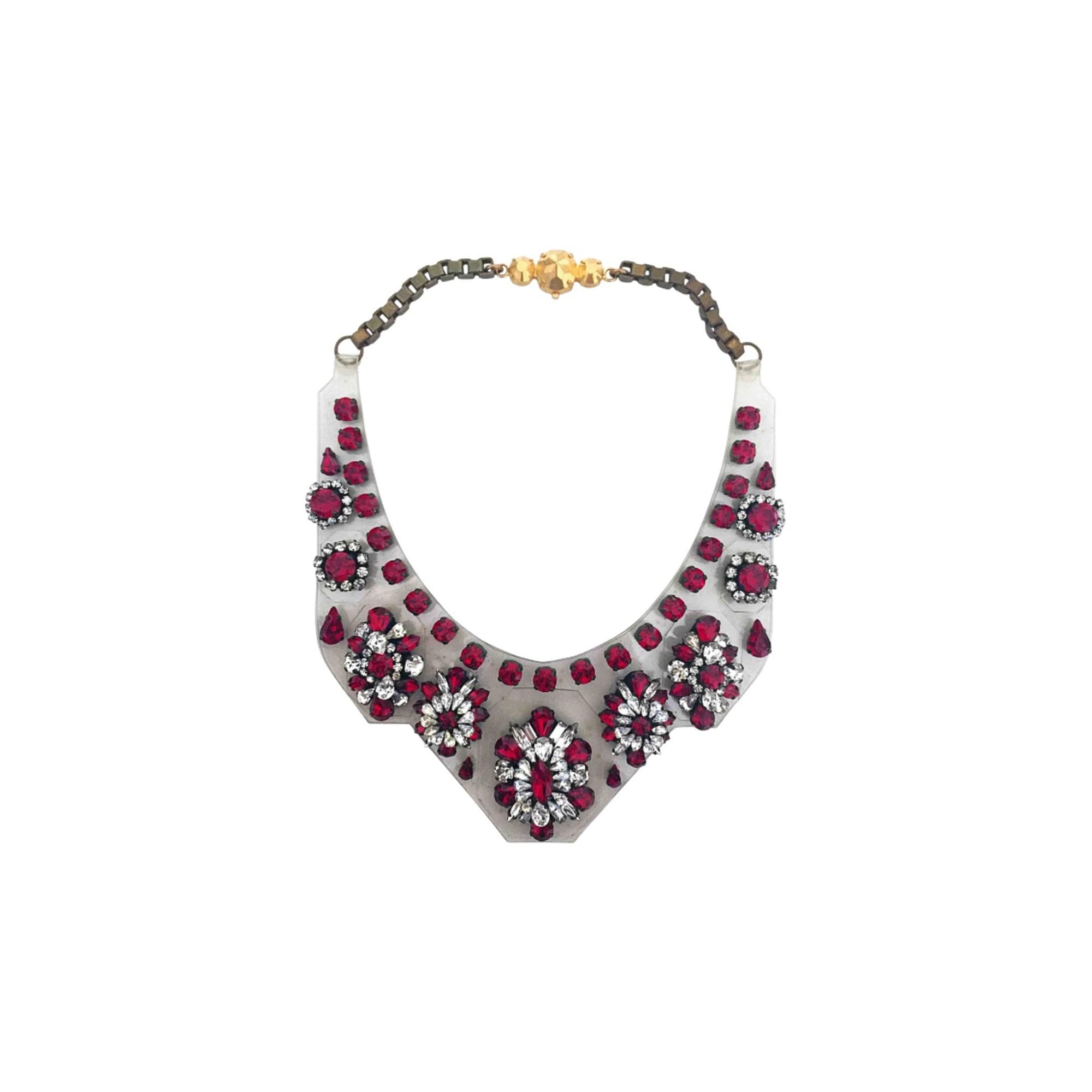 Collier SHOUROUK swarovski crystal rouge