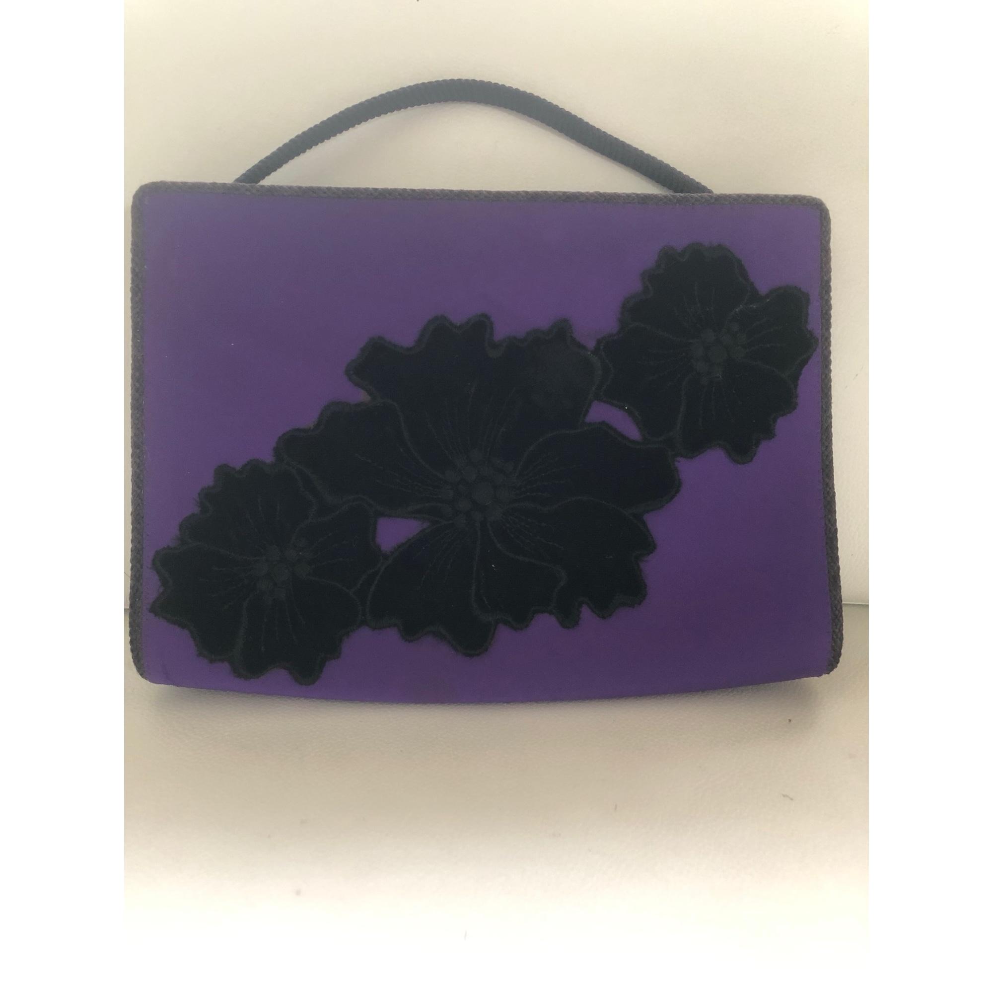 Sac à main en tissu JEAN LOUIS SCHERRER tissu violet