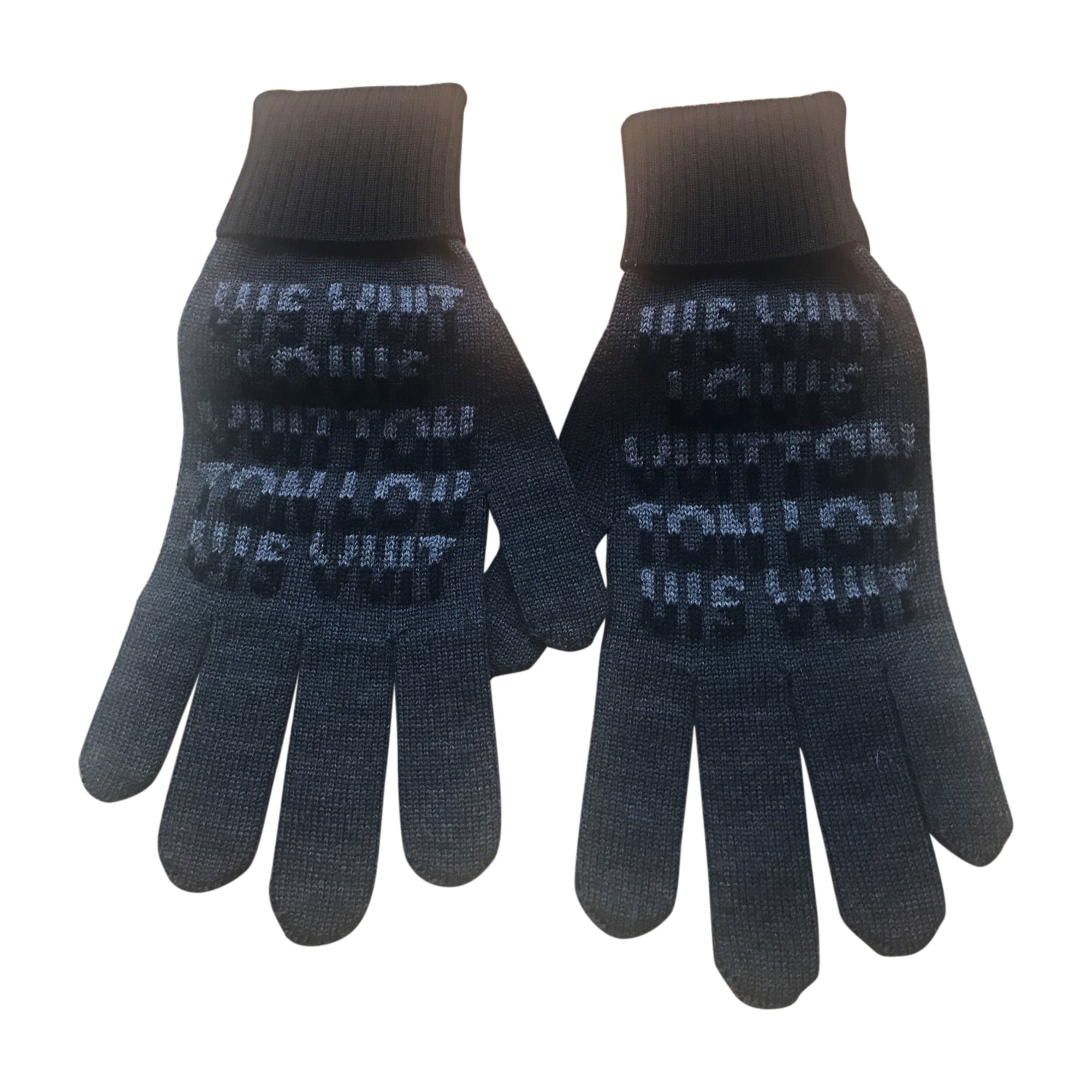 Gloves LOUIS VUITTON Gray, charcoal
