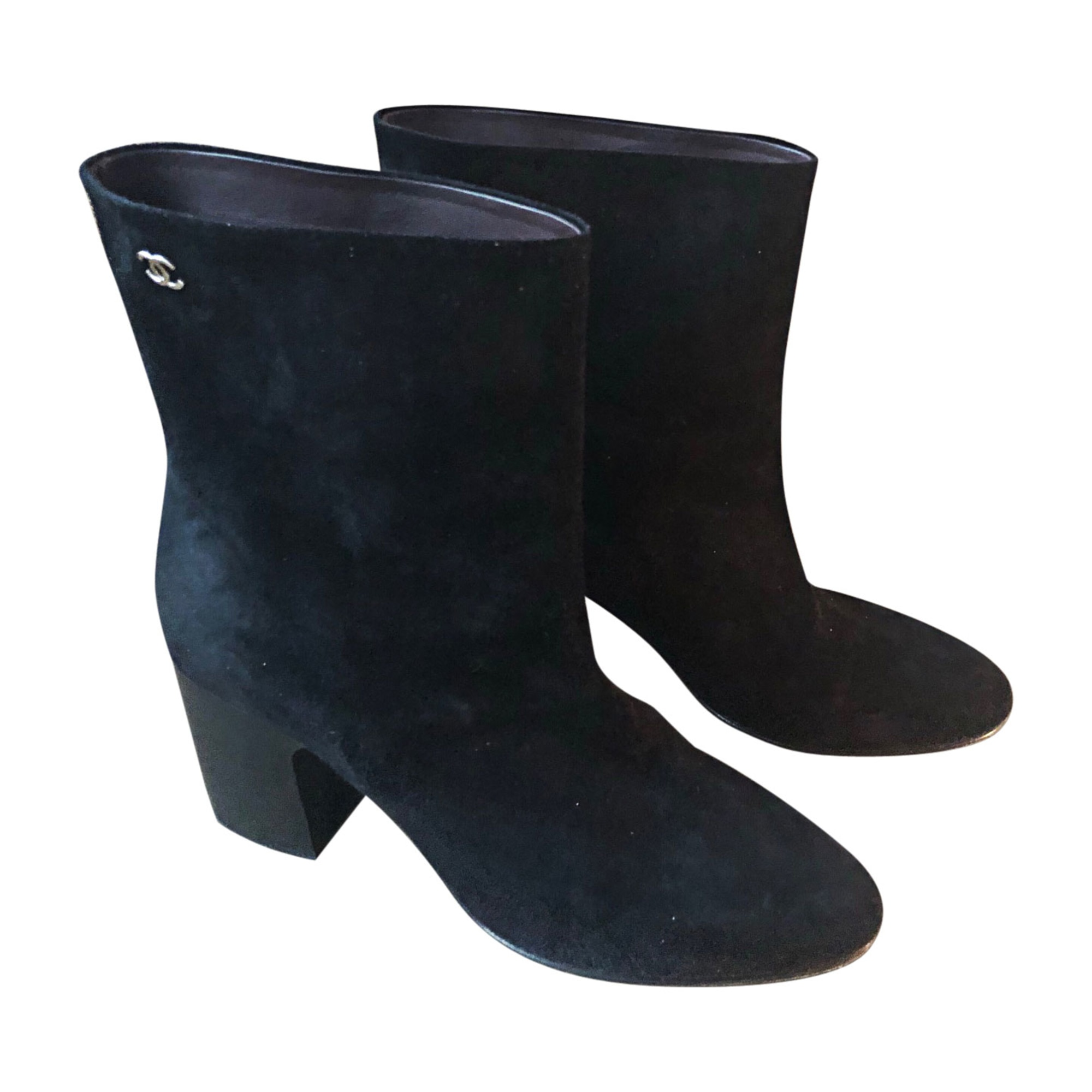 Bottines & low boots à talons CHANEL Noir
