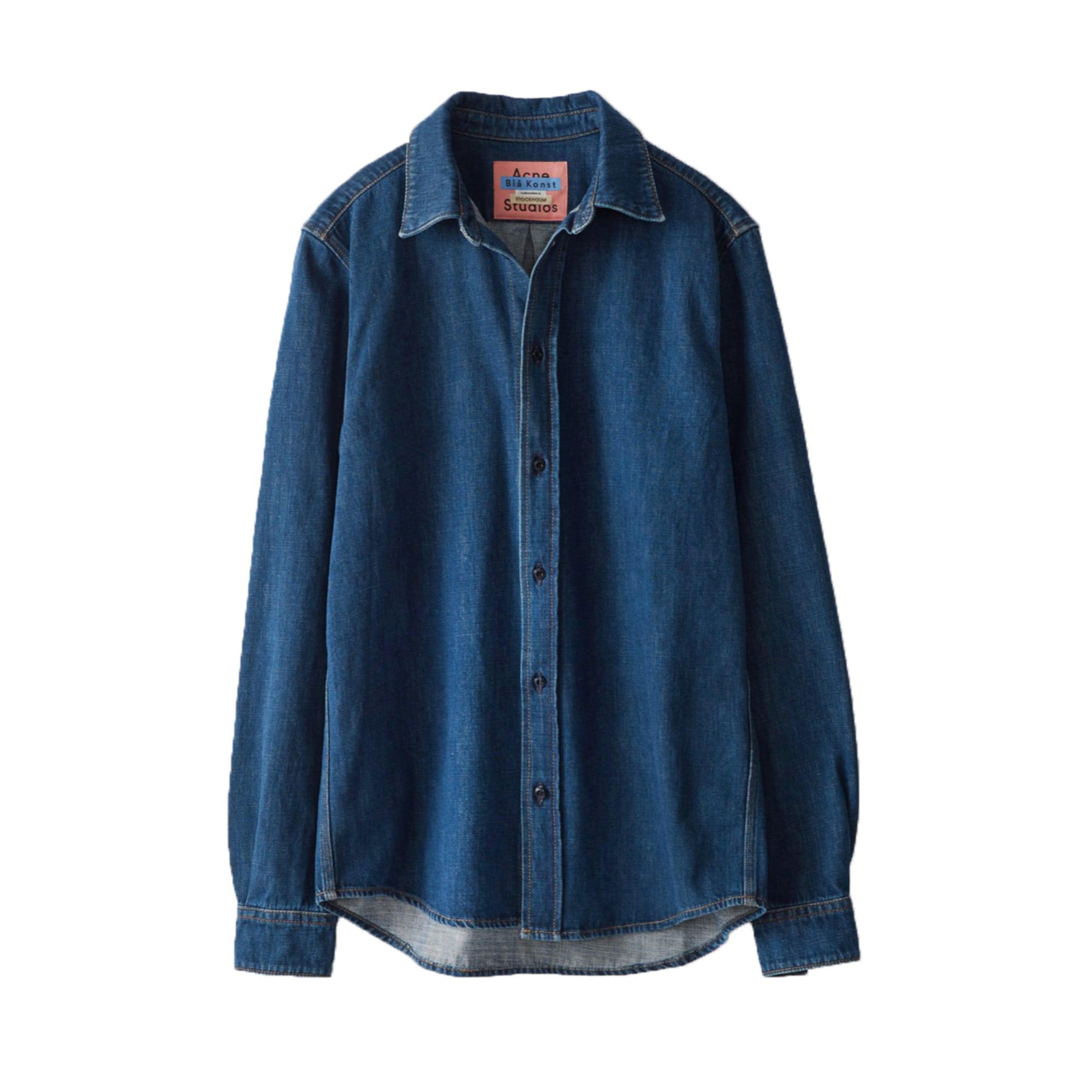 Camicia ACNE Blu, blu navy, turchese