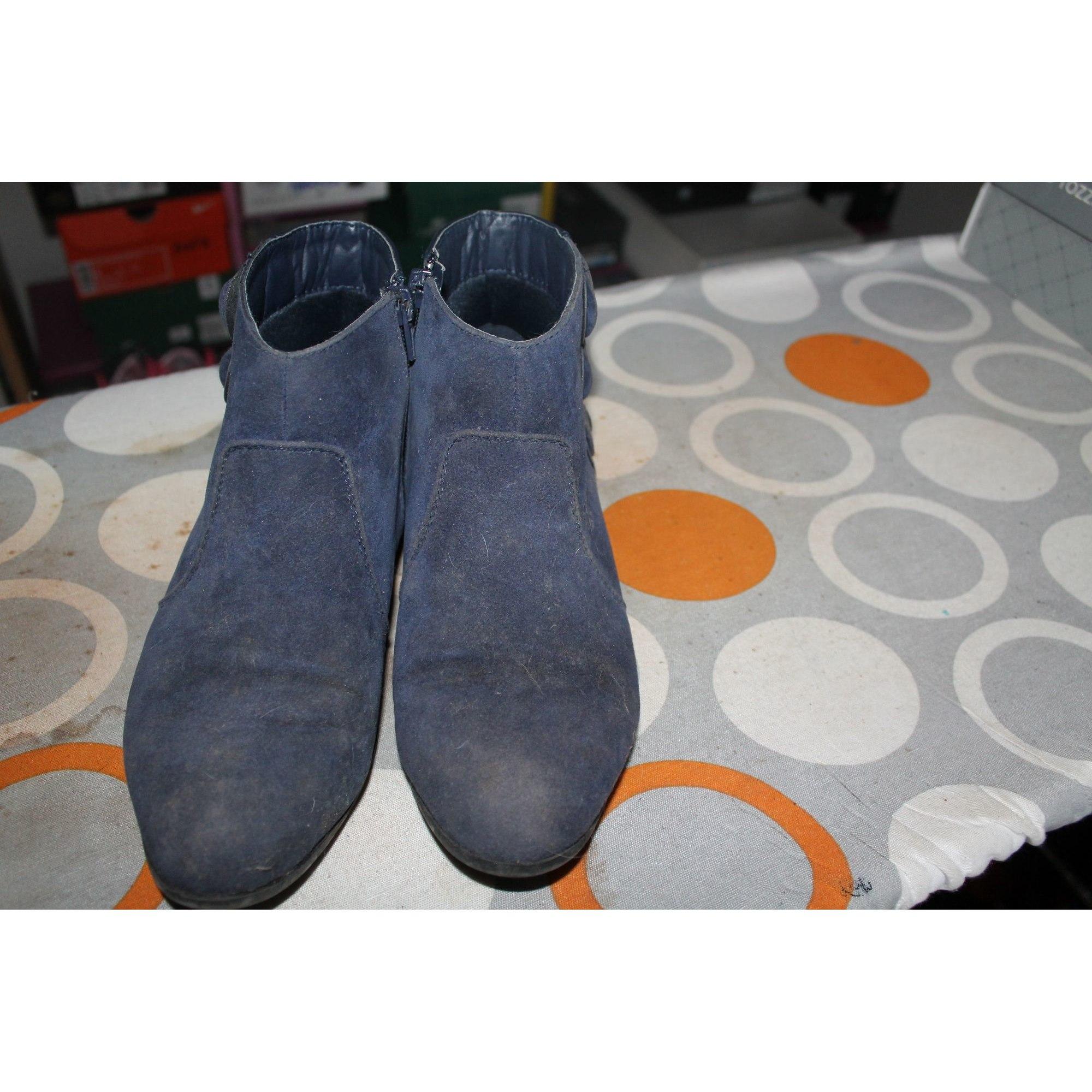 Bottines & low boots plates NAF NAF Bleu, bleu marine, bleu turquoise
