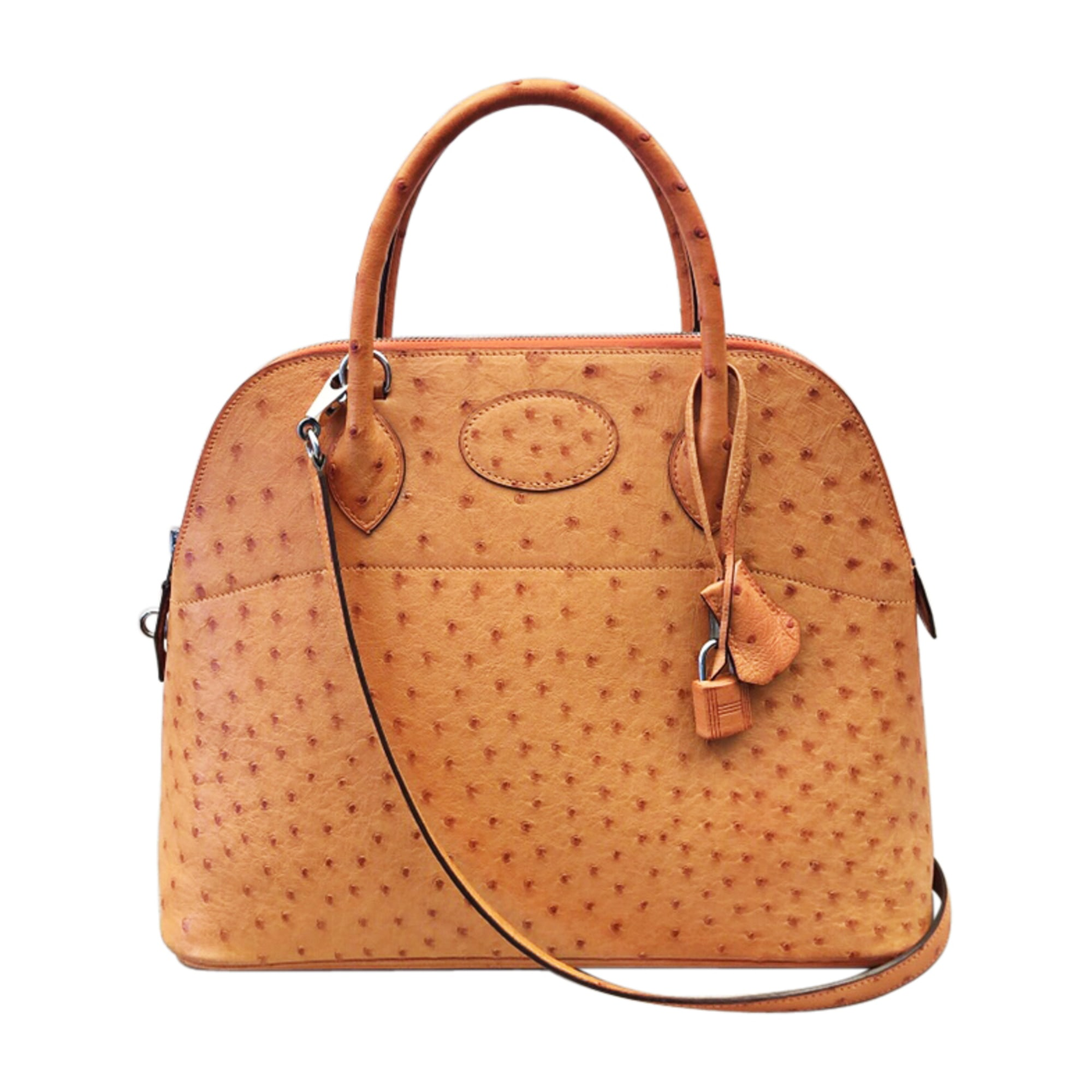 acbd91d3a5 Sac à main en cuir HERMÈS orange - 8615140
