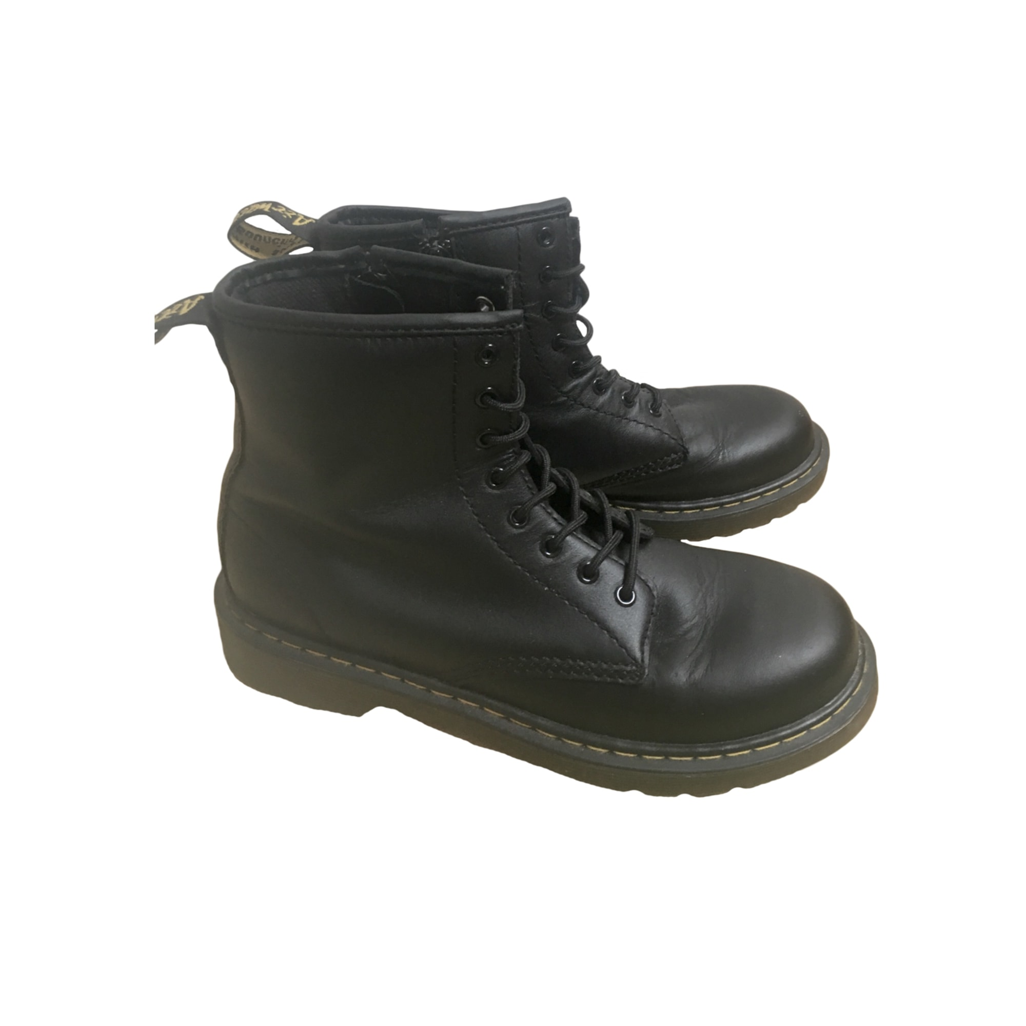 Bottines & low boots motards DR. MARTENS Noir