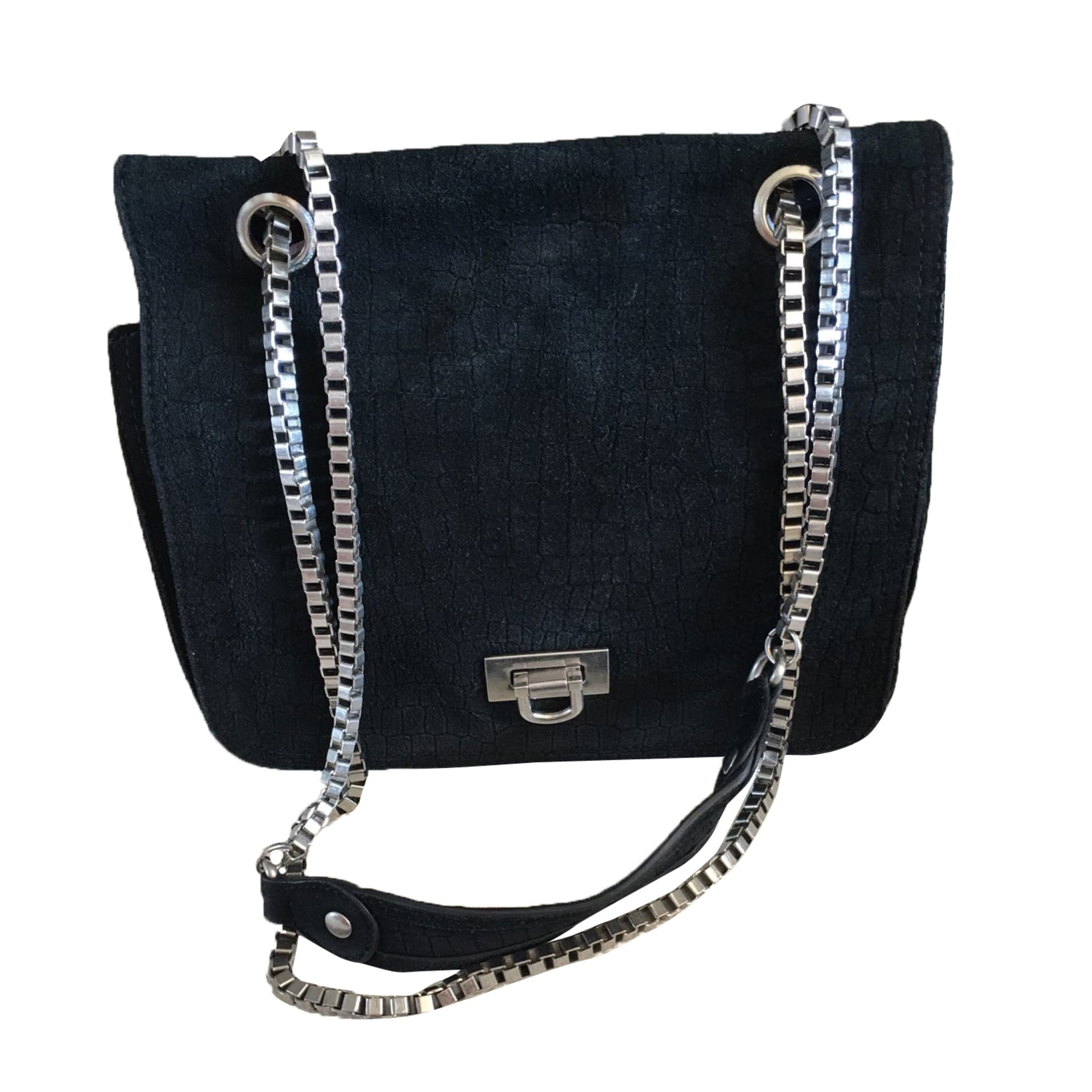 Leather Shoulder Bag MAJE Black