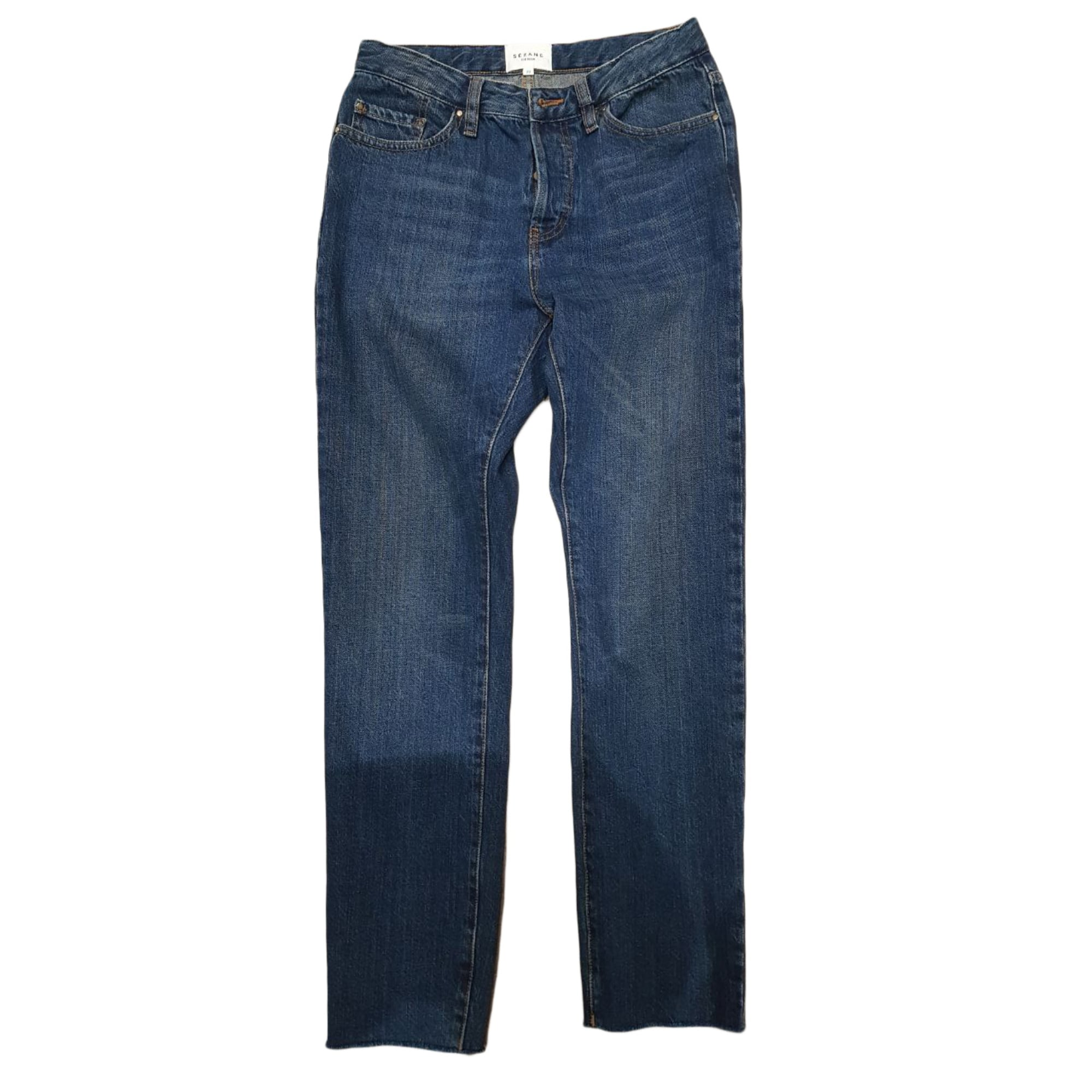 Jeans slim SÉZANE Blu, blu navy, turchese
