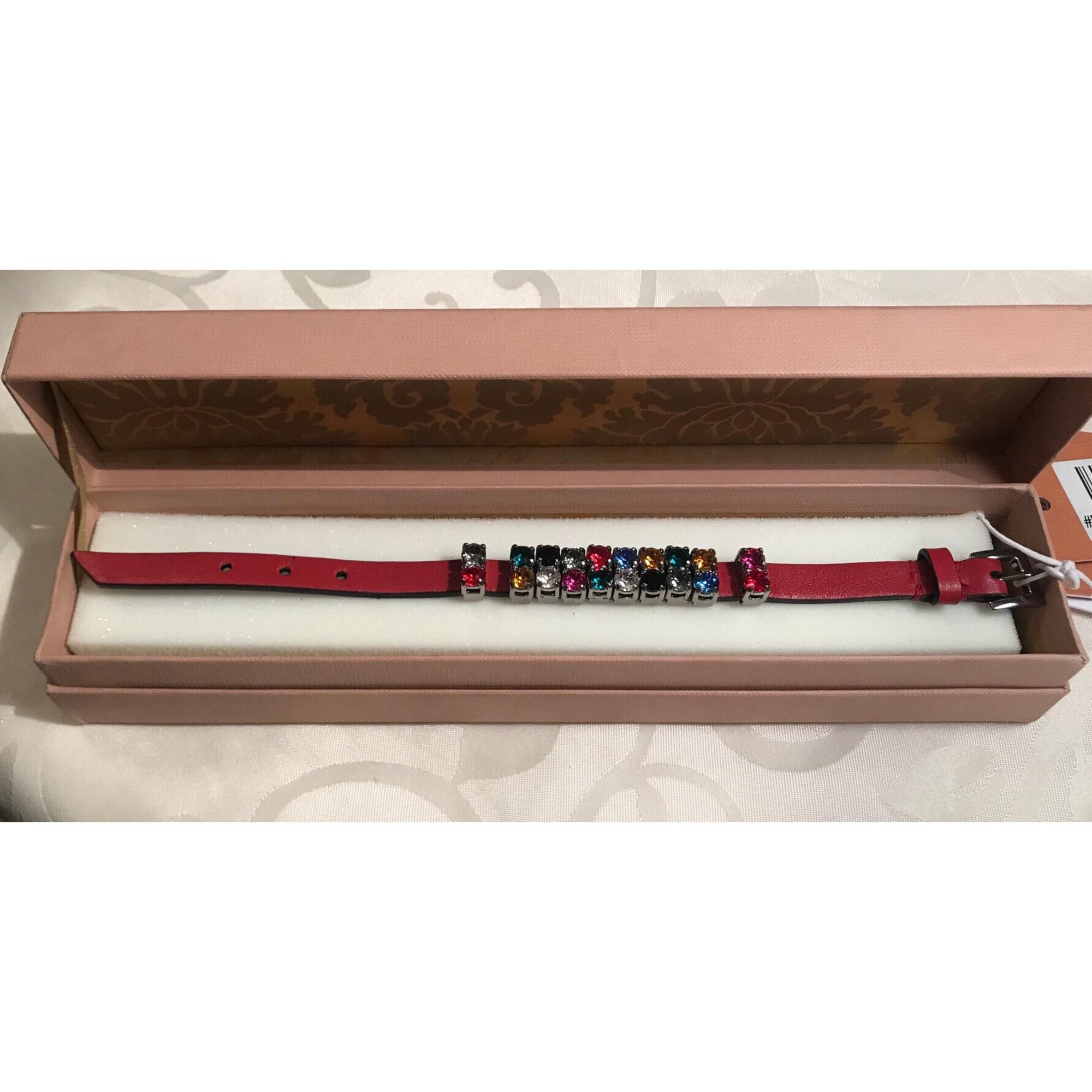 Bracelet MIU MIU cuir rouge