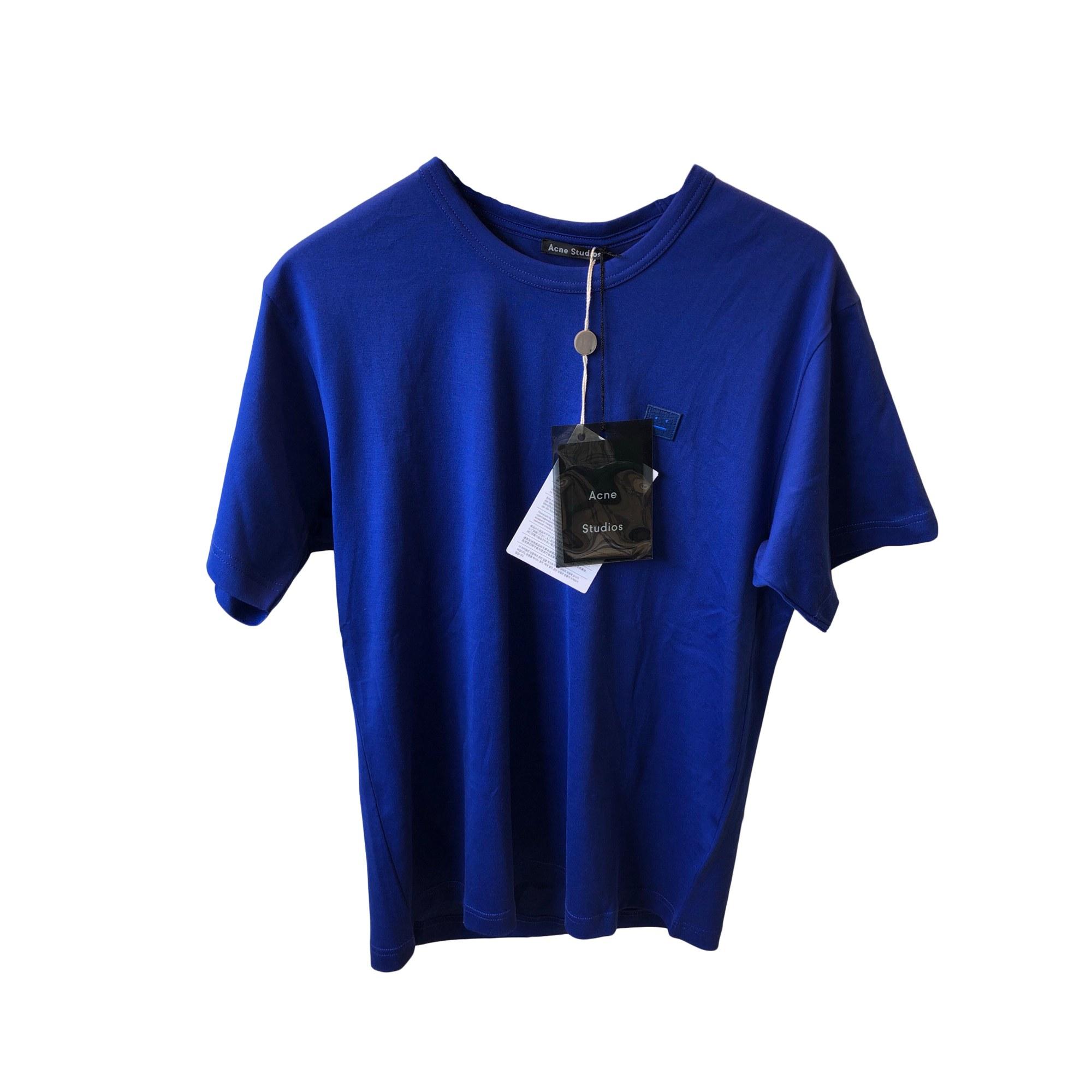 T-shirt ACNE Blu, blu navy, turchese
