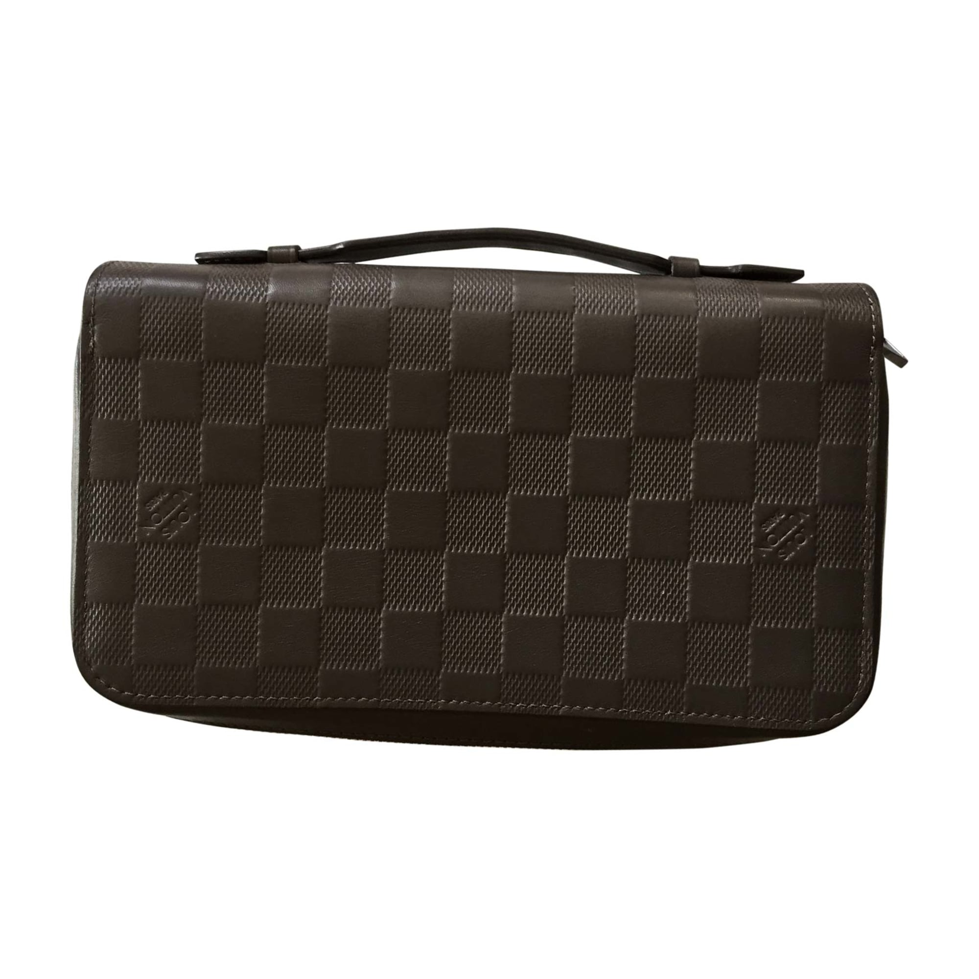 Satchel LOUIS VUITTON Gray, charcoal