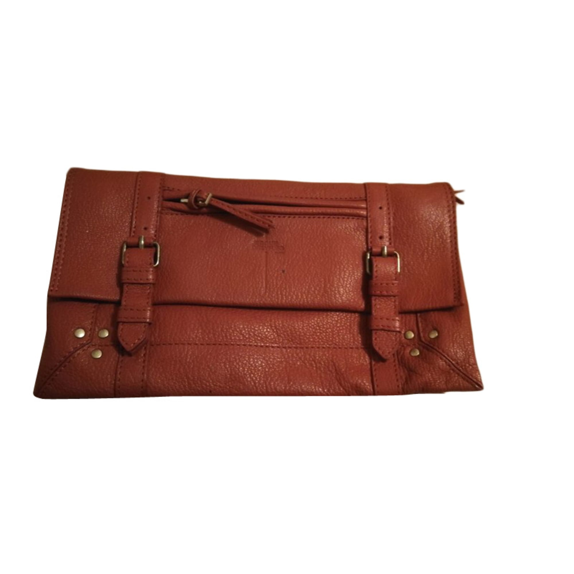Leather Clutch JEROME DREYFUSS Brown