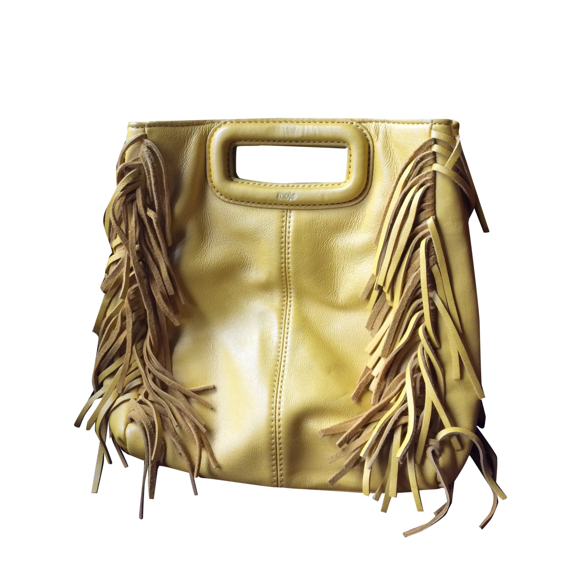Leather Handbag MAJE Yellow