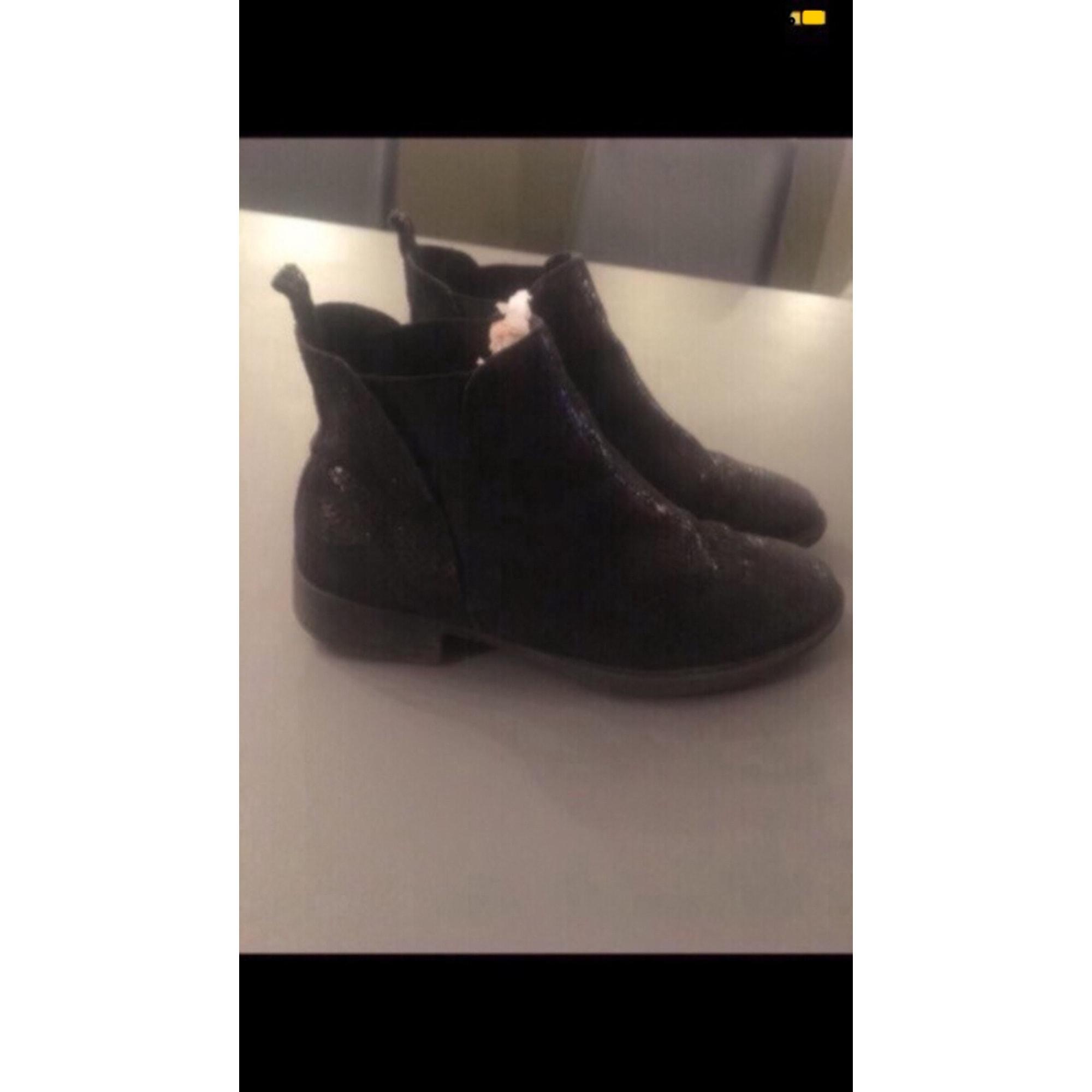 Bottines & low boots plates LA HALLE AUX CHAUSSURES 37 bleu