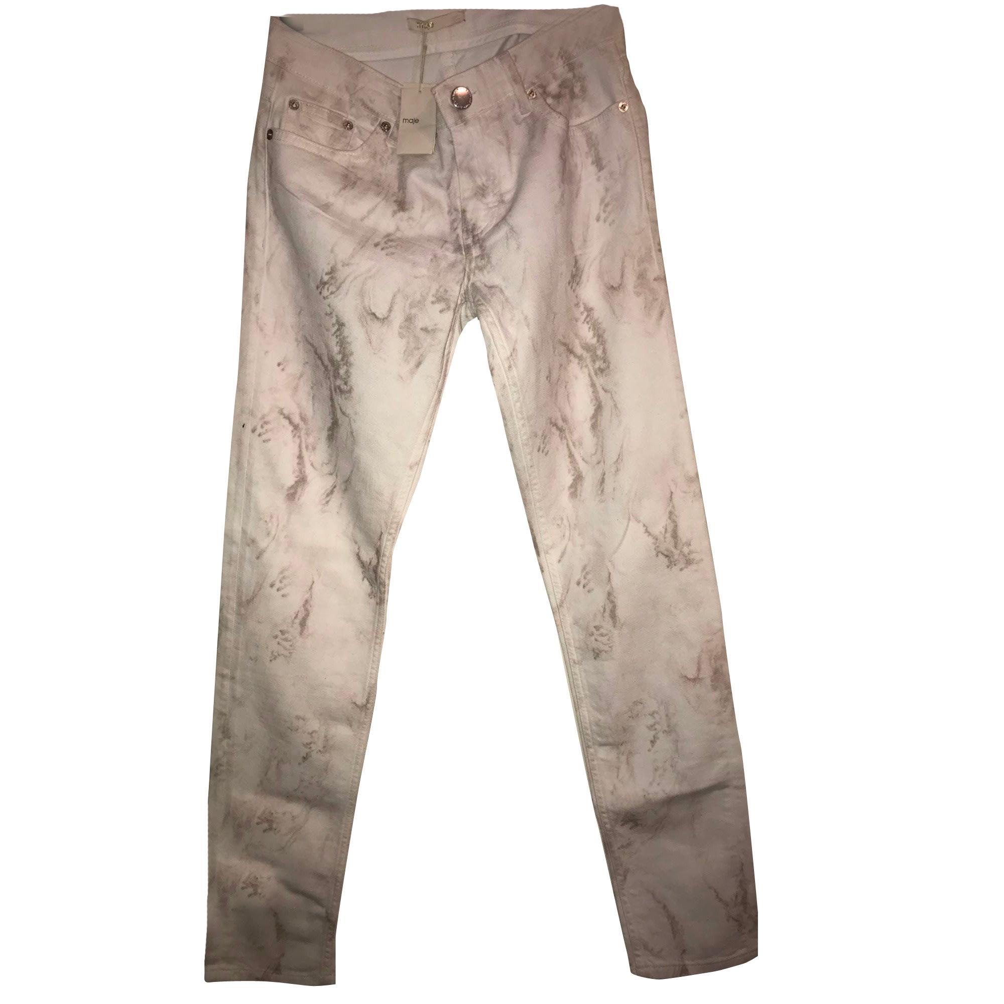 Jeans slim MAJE Bianco, bianco sporco, ecru