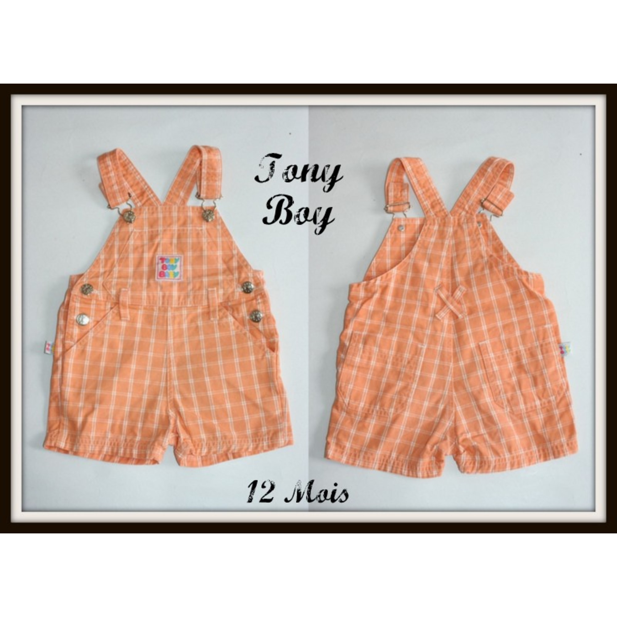 Salopette short TONY BOY Orange