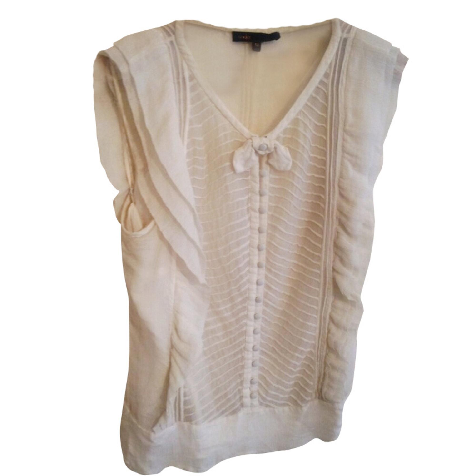 Top, T-shirt MAJE White, off-white, ecru