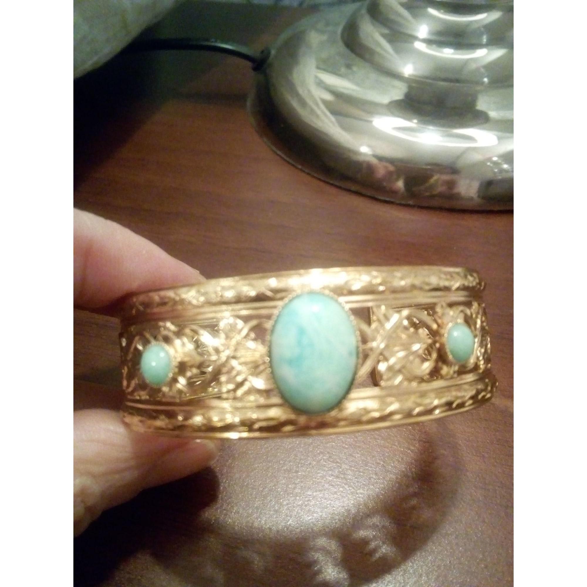 Bracelet DEAR CHARLOTTE plaqué or bleu