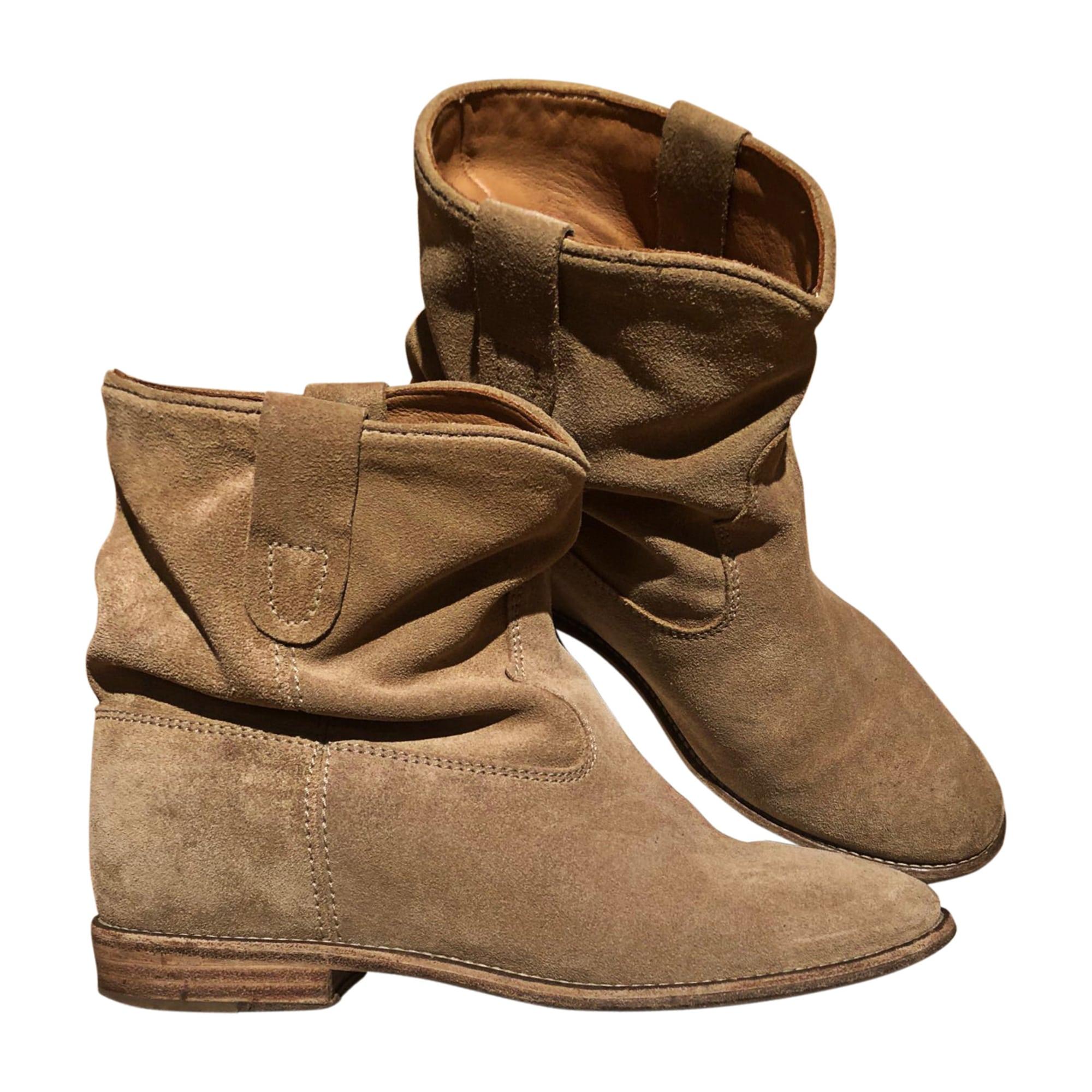 Santiags, bottines, low boots cowboy ISABEL MARANT ETOILE Beige, camel