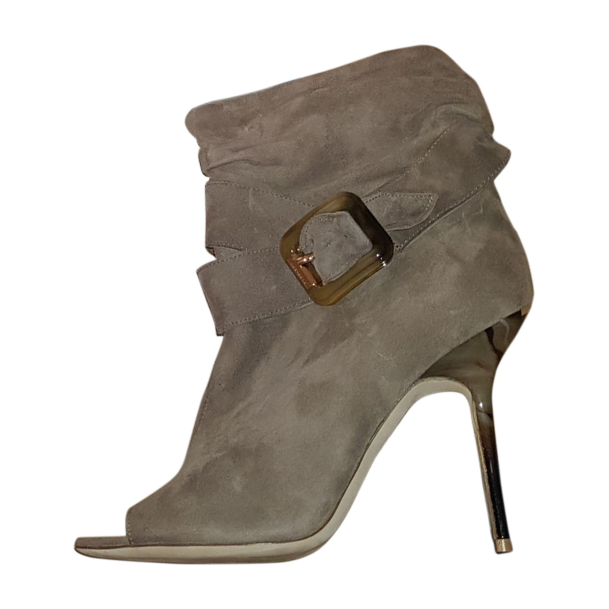 Bottines & low boots à talons BURBERRY Beige, camel