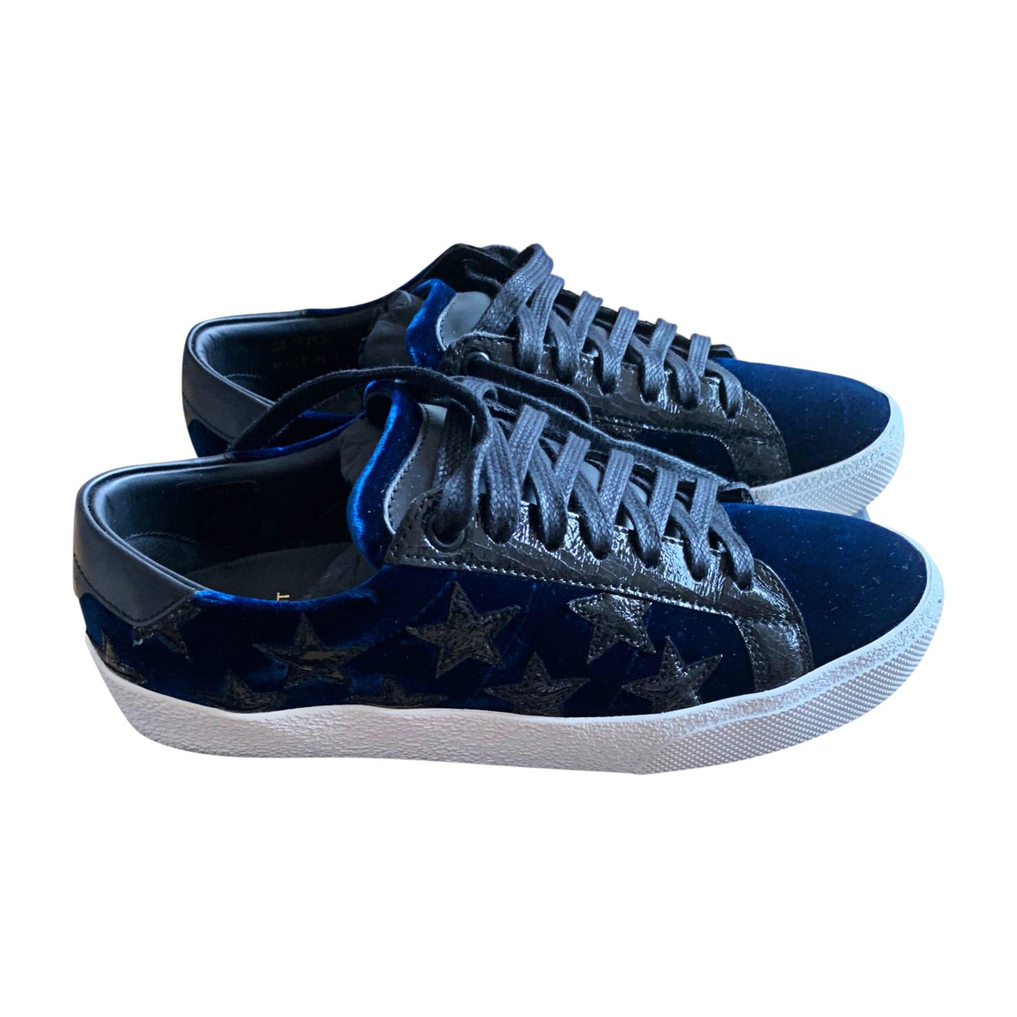 Baskets SAINT LAURENT Bleu, bleu marine, bleu turquoise
