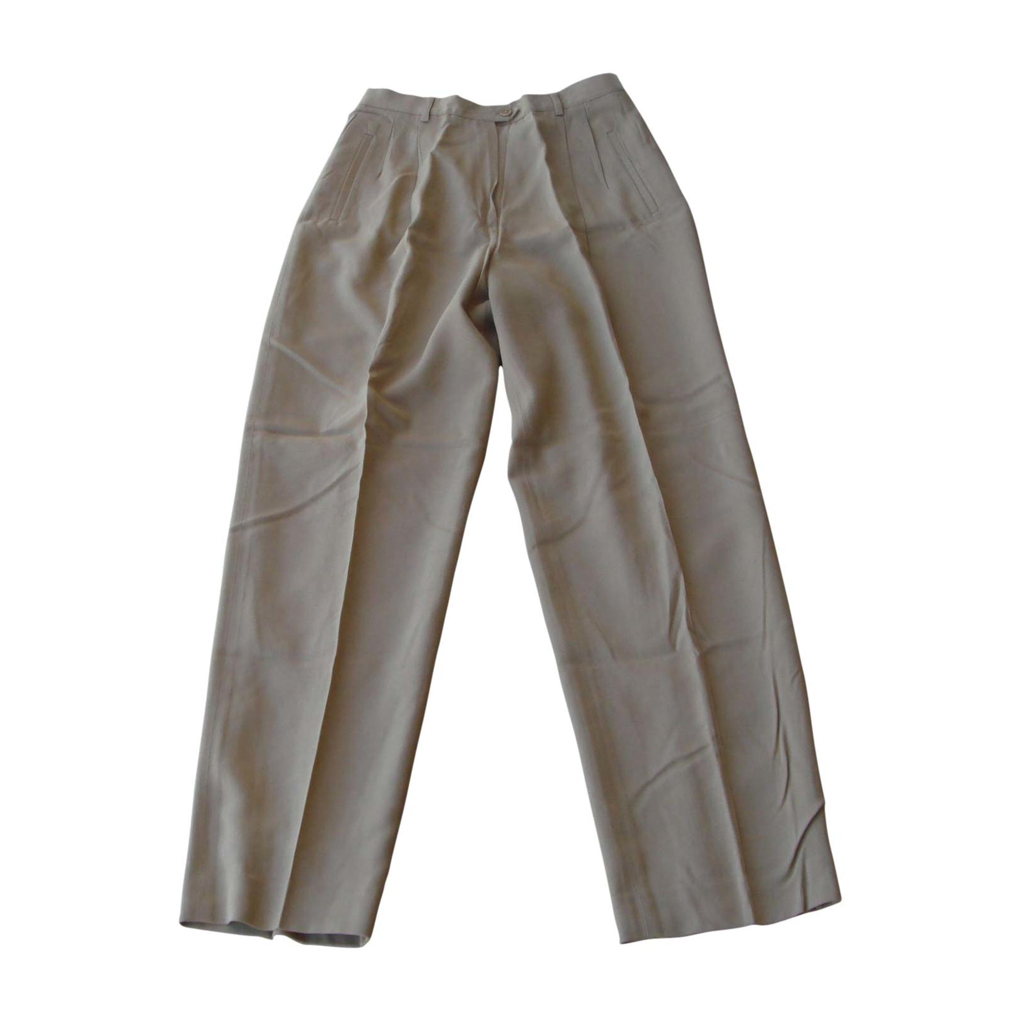 Pantalon large RALPH LAUREN Beige, camel