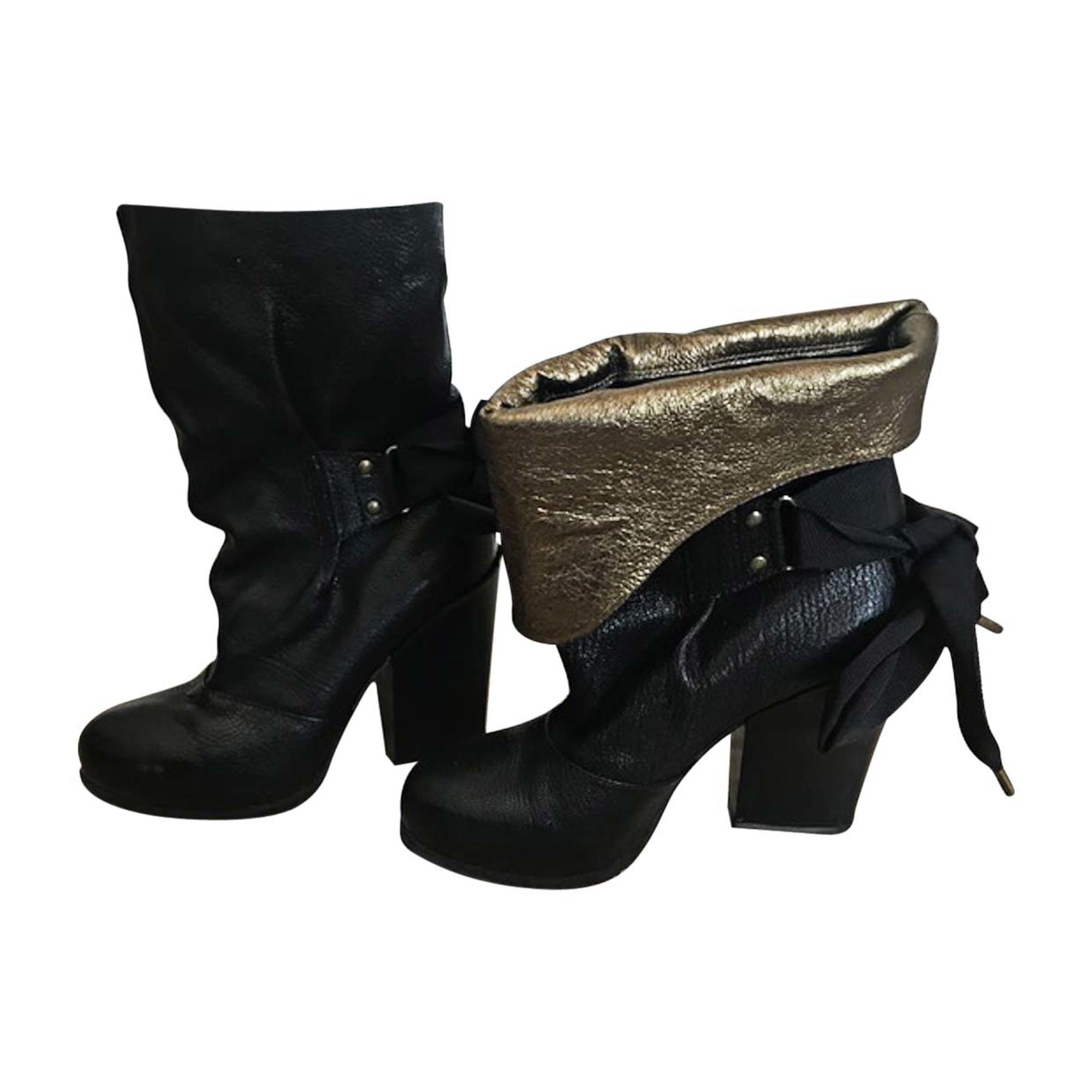Bottines & low boots à talons VANESSA BRUNO Noir