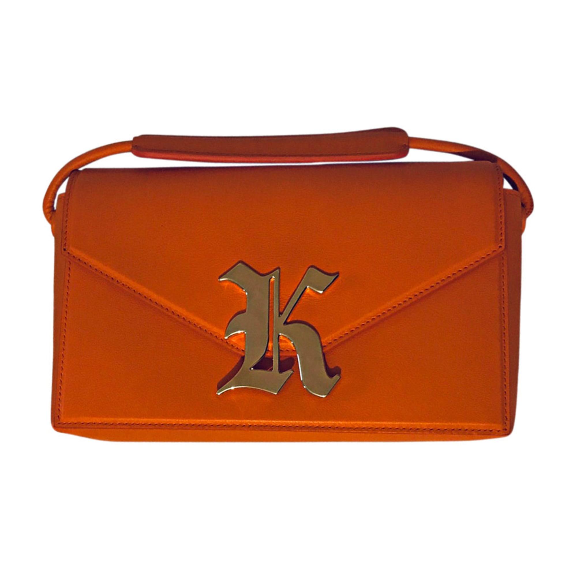 Pochette CHRISTOPHER KANE cuir orange