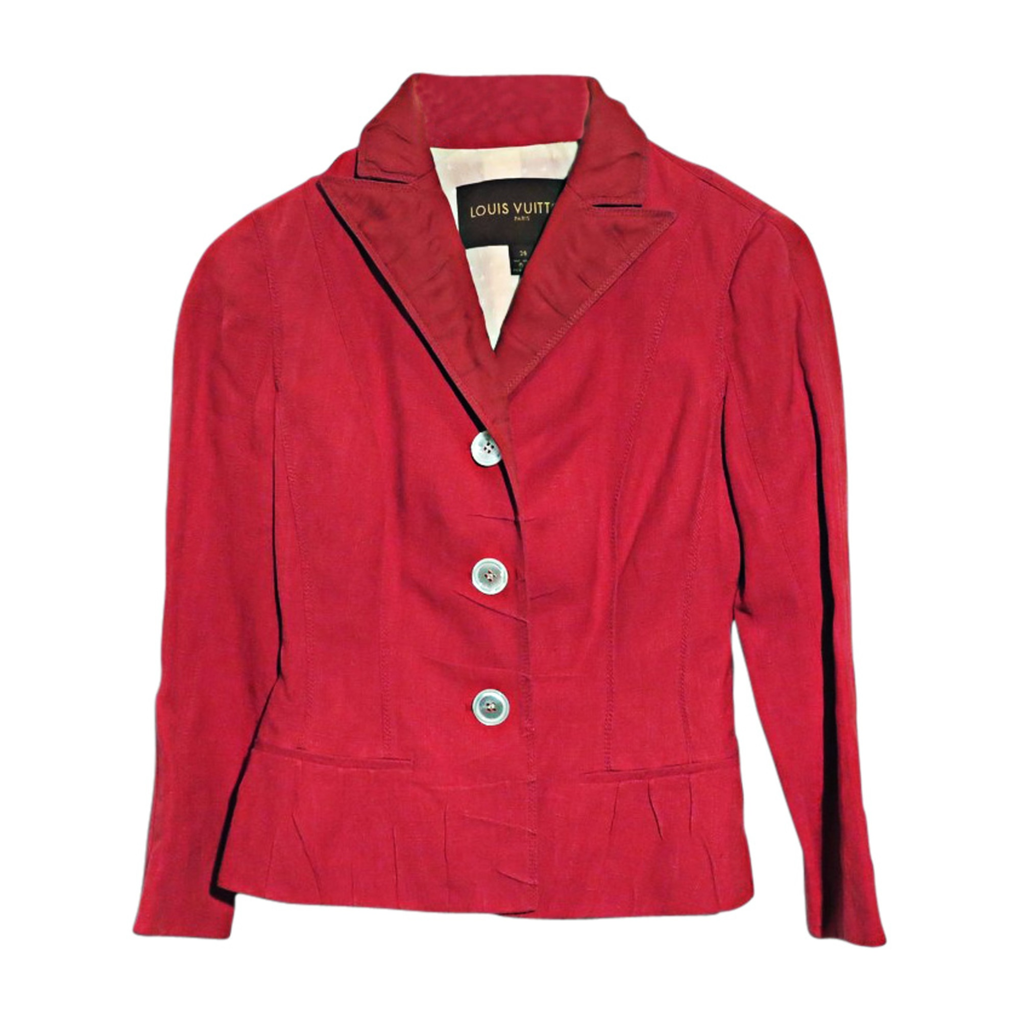 Veste LOUIS VUITTON Rouge, bordeaux