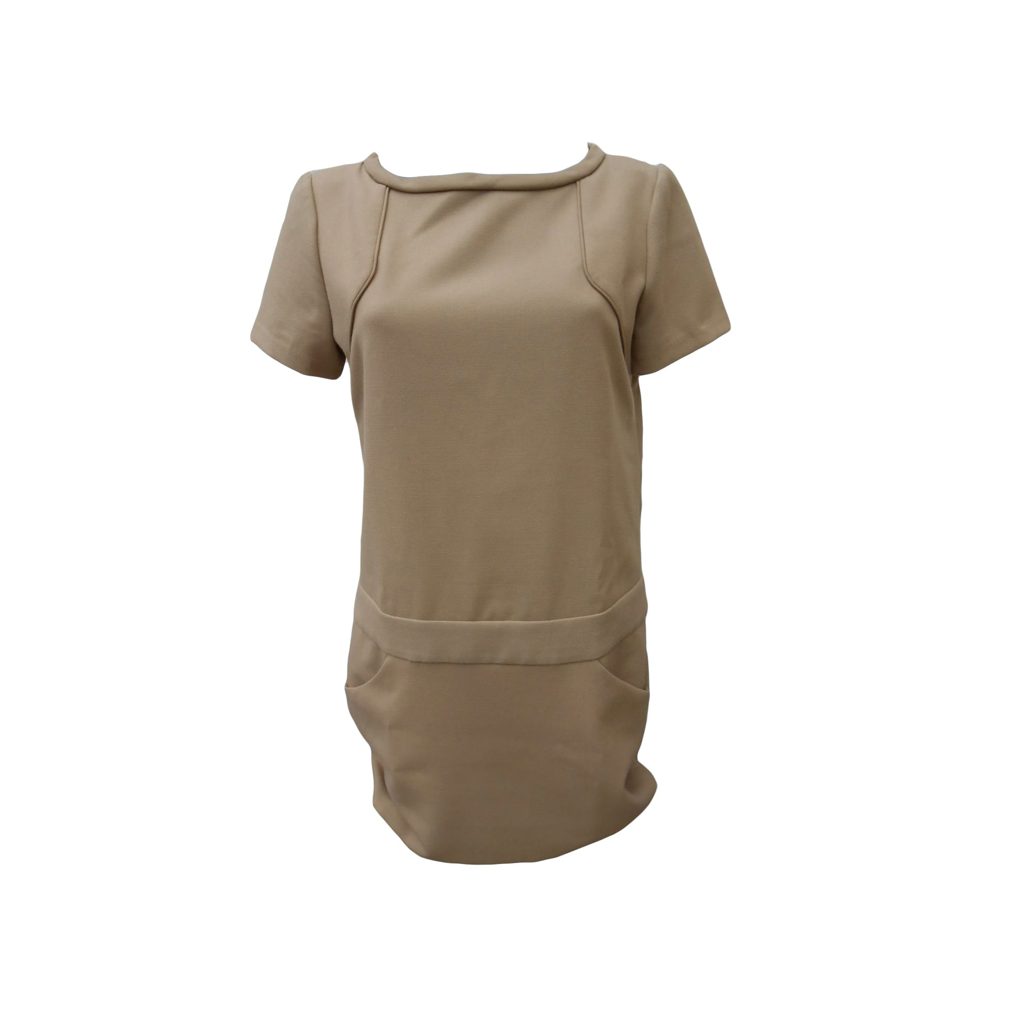 Mini Dress MAJE Beige, camel