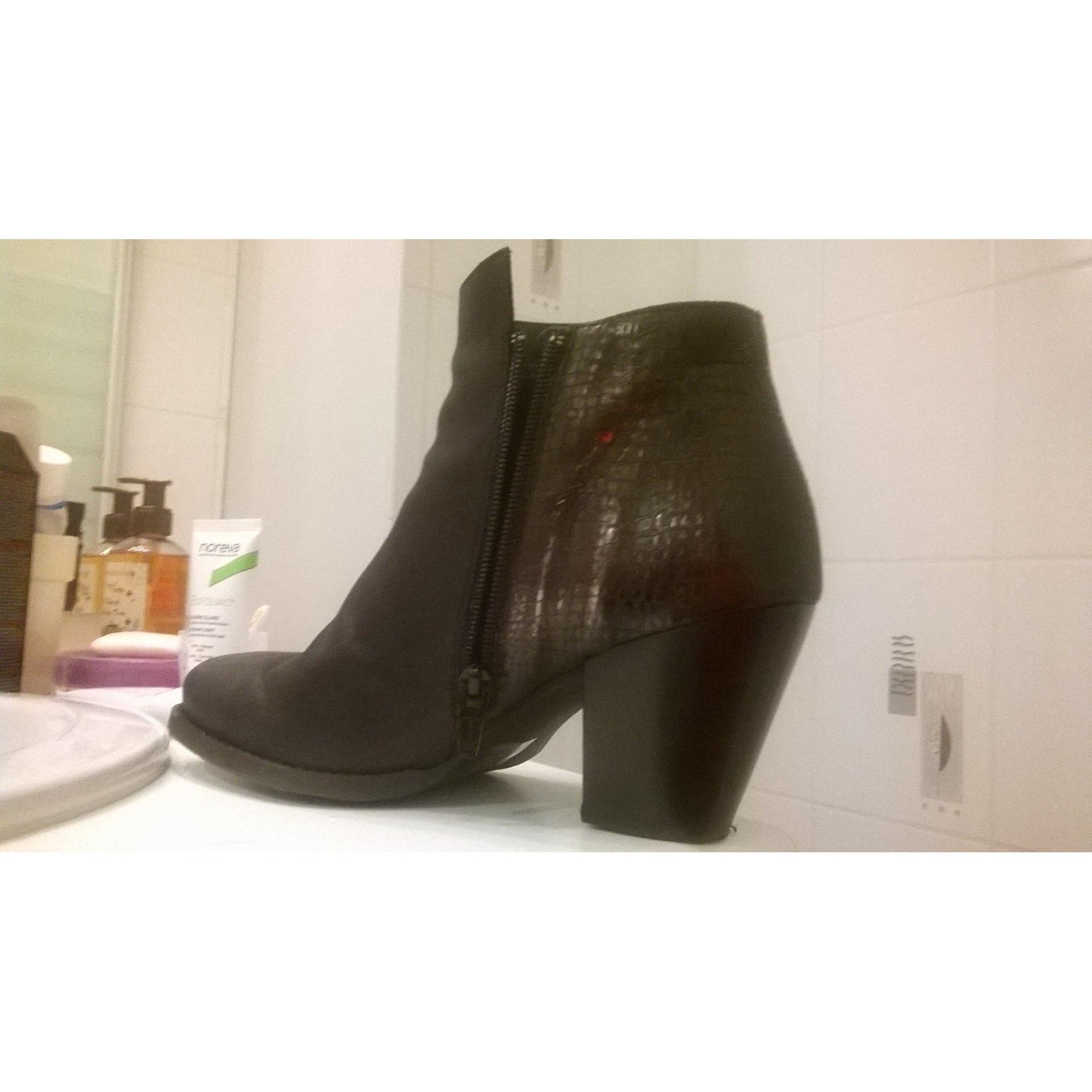 5baa92a1e3f Bottines   low boots à talons MARCO TOZZI 38 noir - 8652983