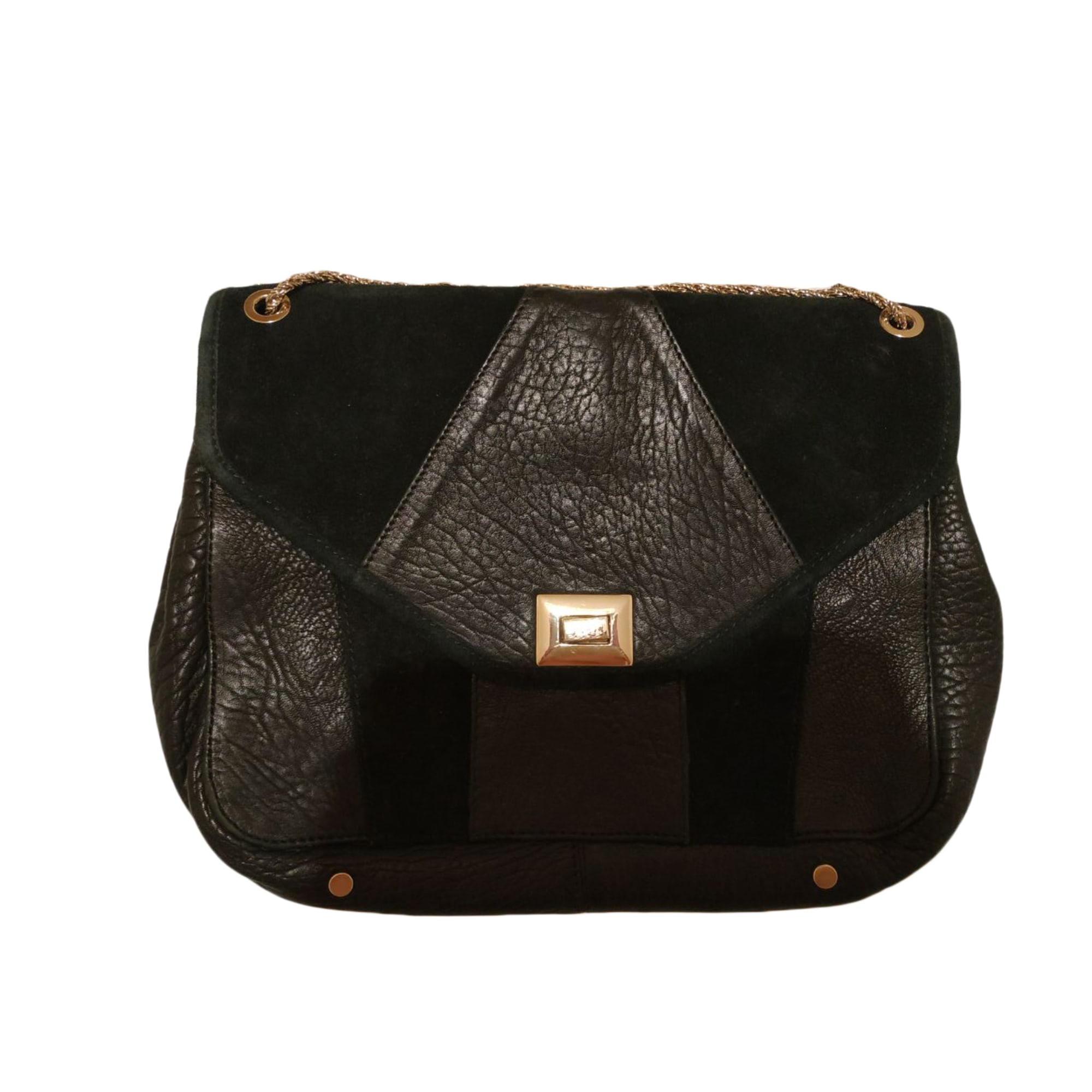 Leather Shoulder Bag SÉZANE Black