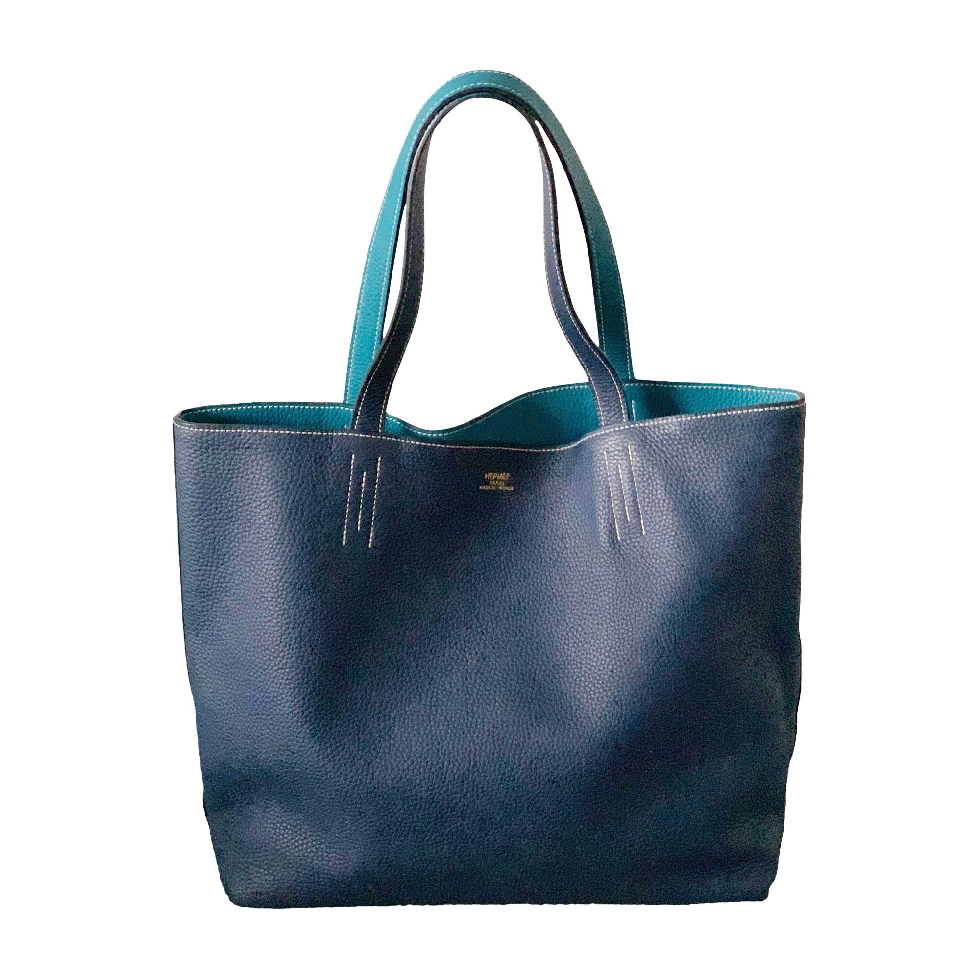 Sac XL en cuir HERMÈS Bleu, bleu marine, bleu turquoise