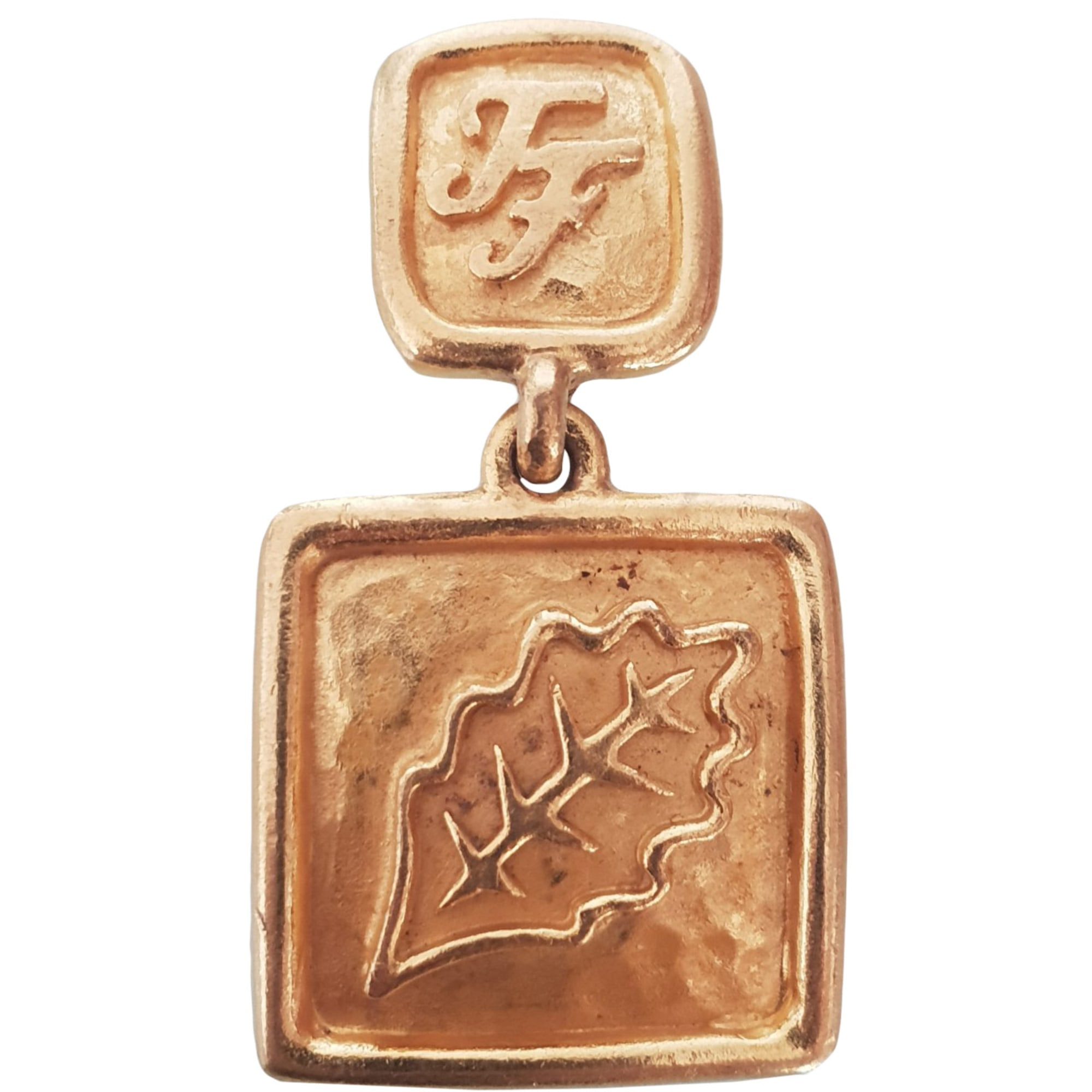 Boucles d'oreille INÈS DE LA FRESSANGE Doré, bronze, cuivre