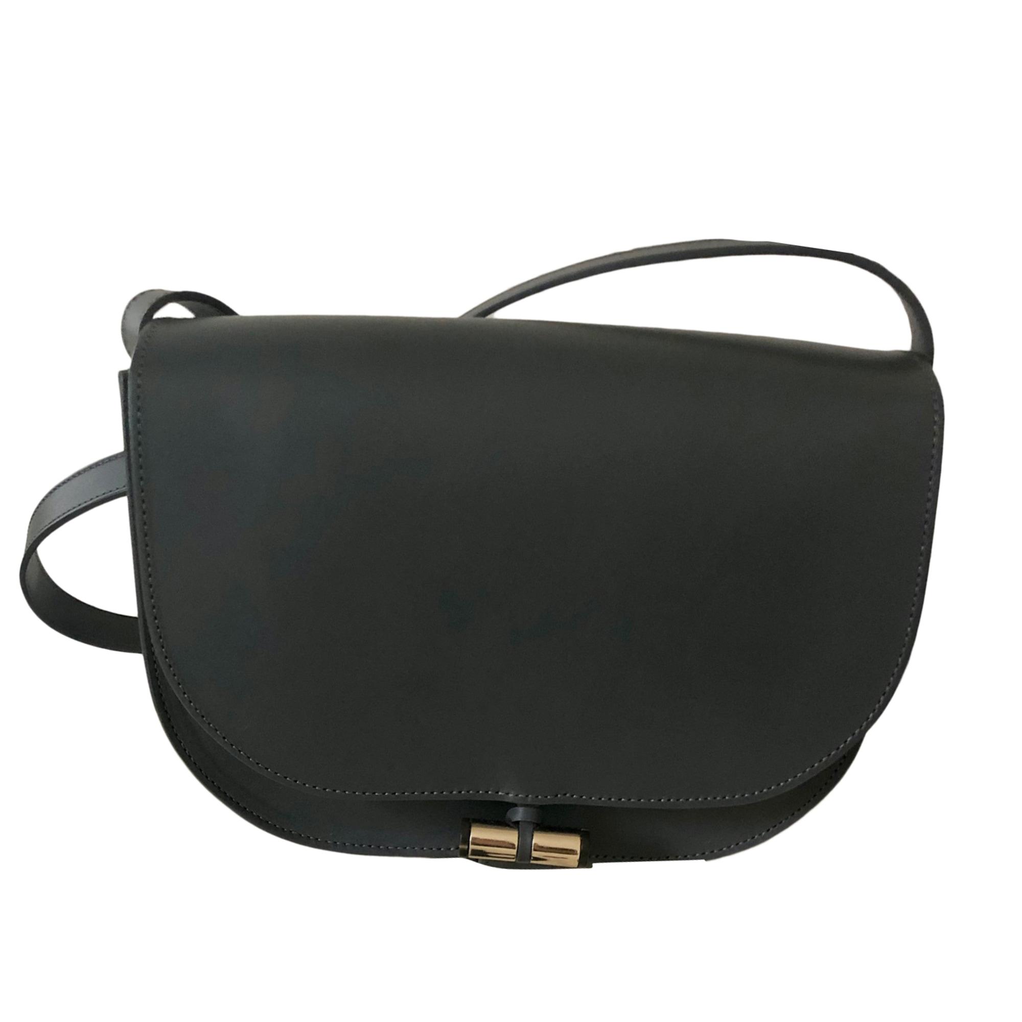 Leather Handbag A.P.C. Gray, charcoal