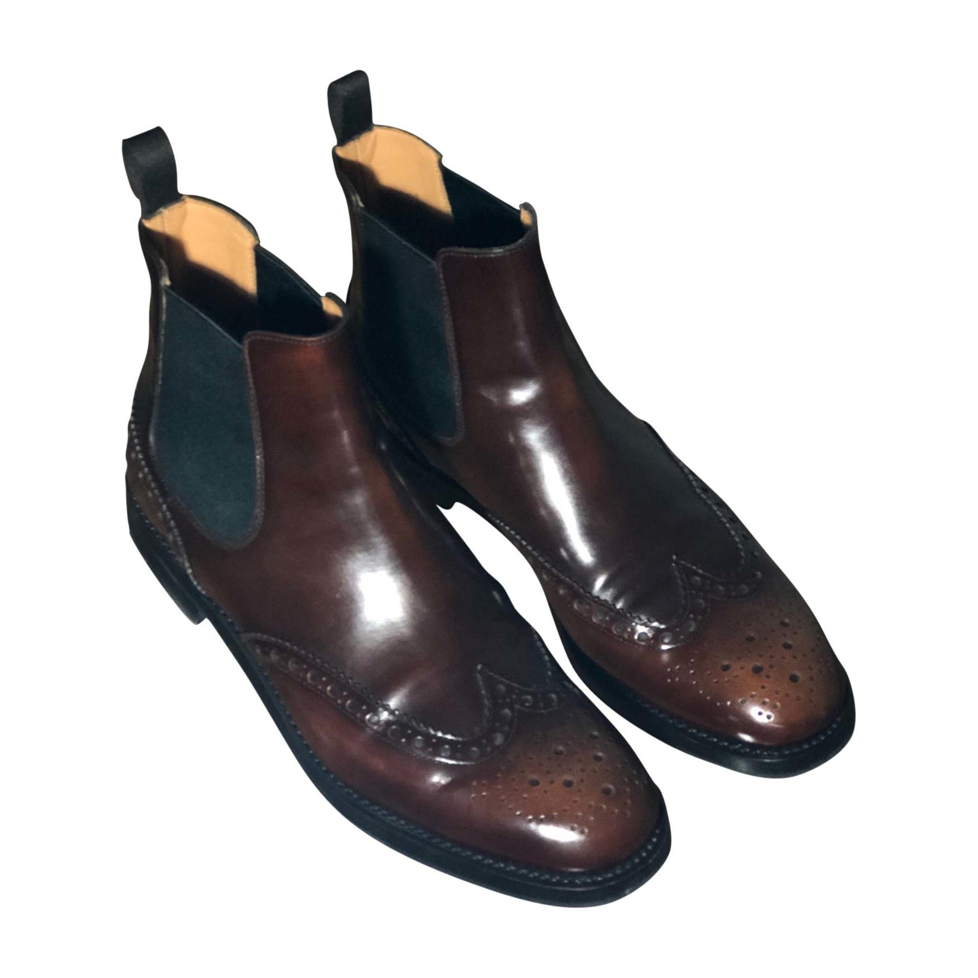 Bottines & low boots plates CHURCH'S Marron