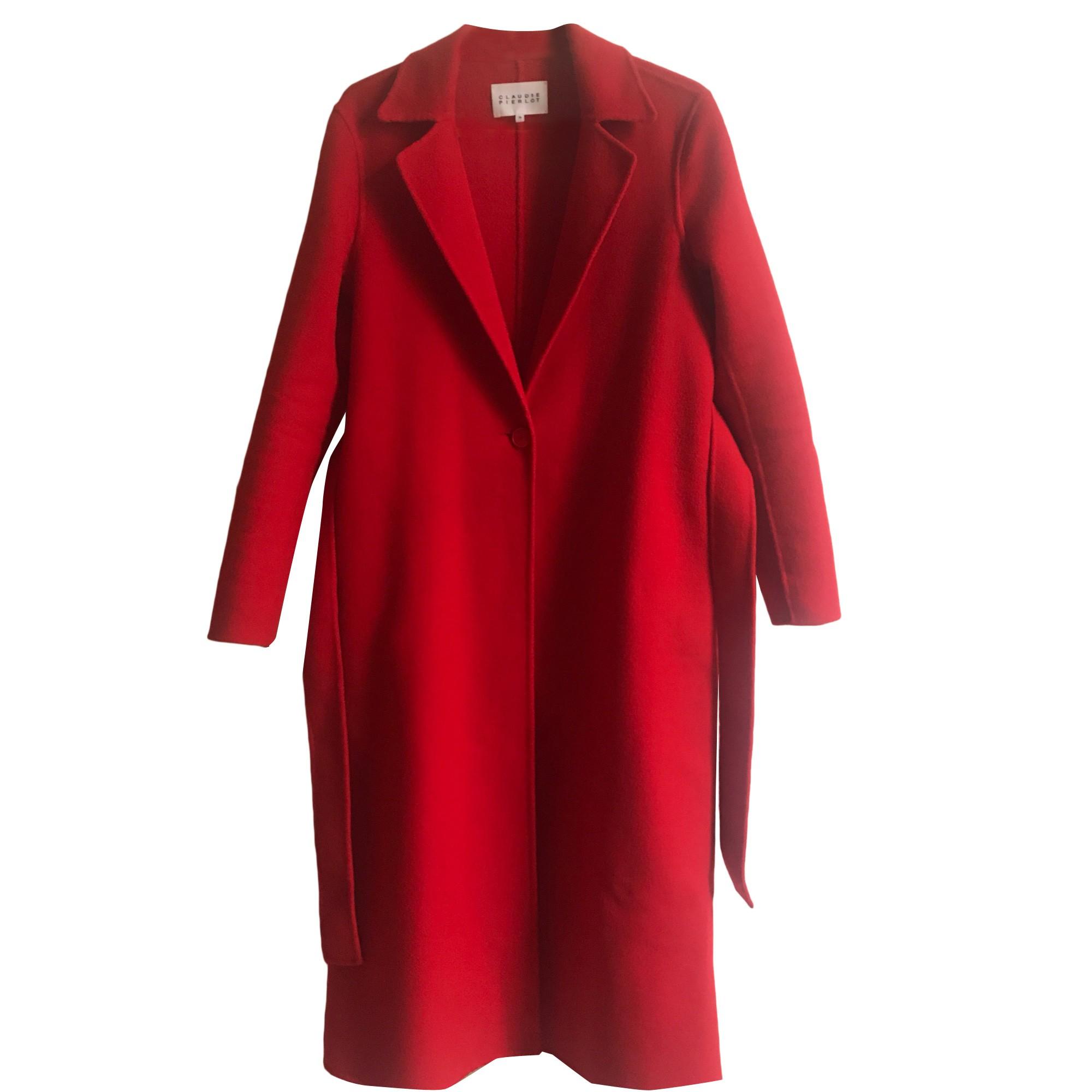 Manteau CLAUDIE PIERLOT Rouge, bordeaux
