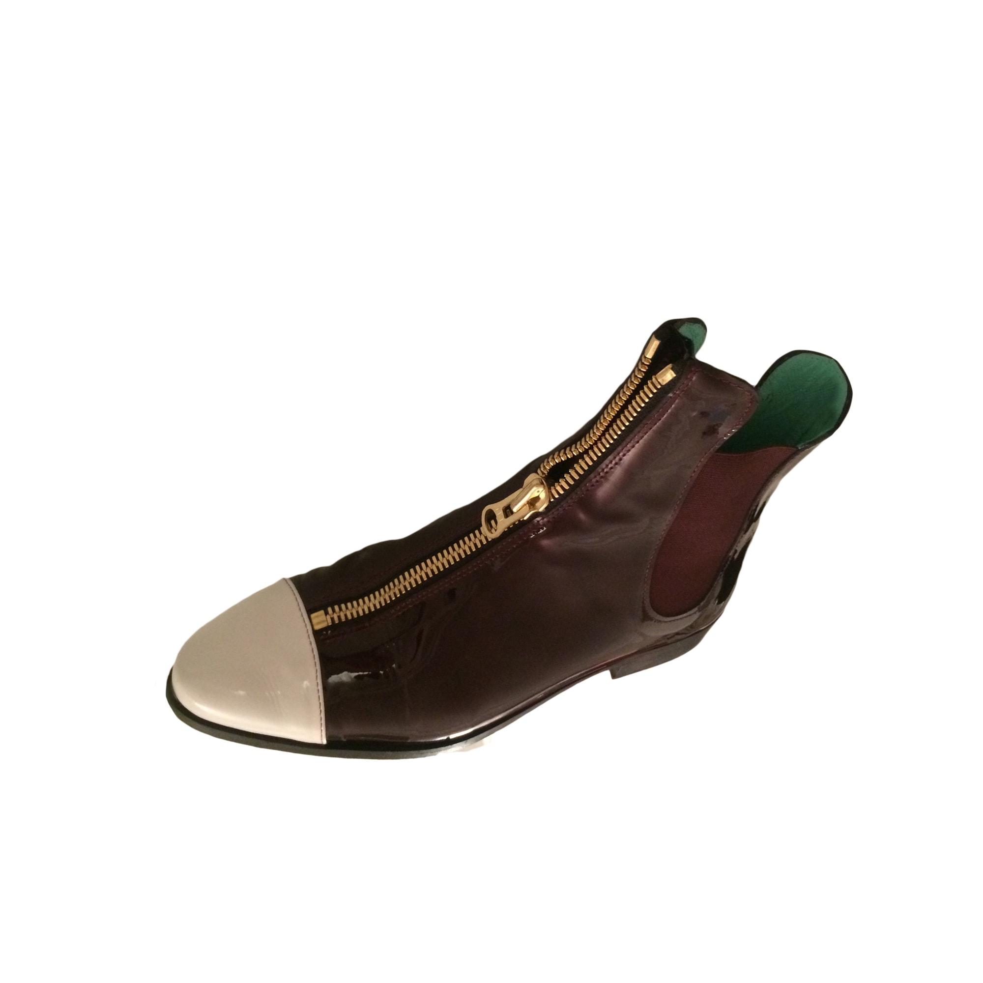 Bottines & low boots plates HEIMSTONE Rouge, bordeaux