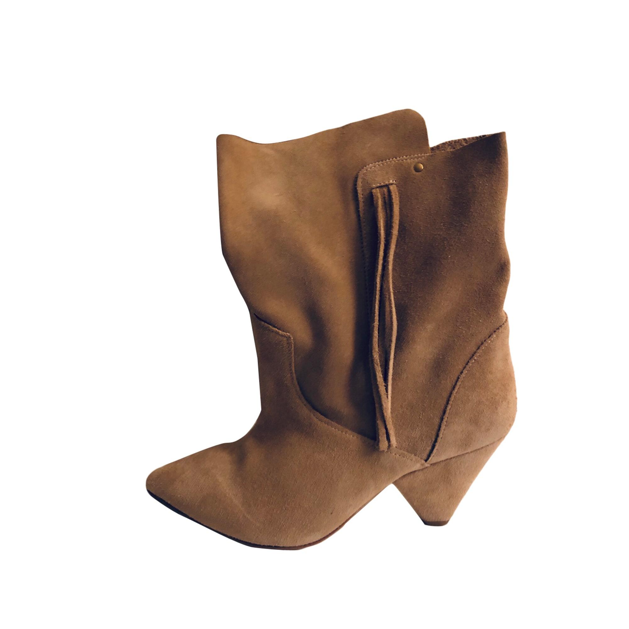 High Heel Ankle Boots JEROME DREYFUSS Beige, camel