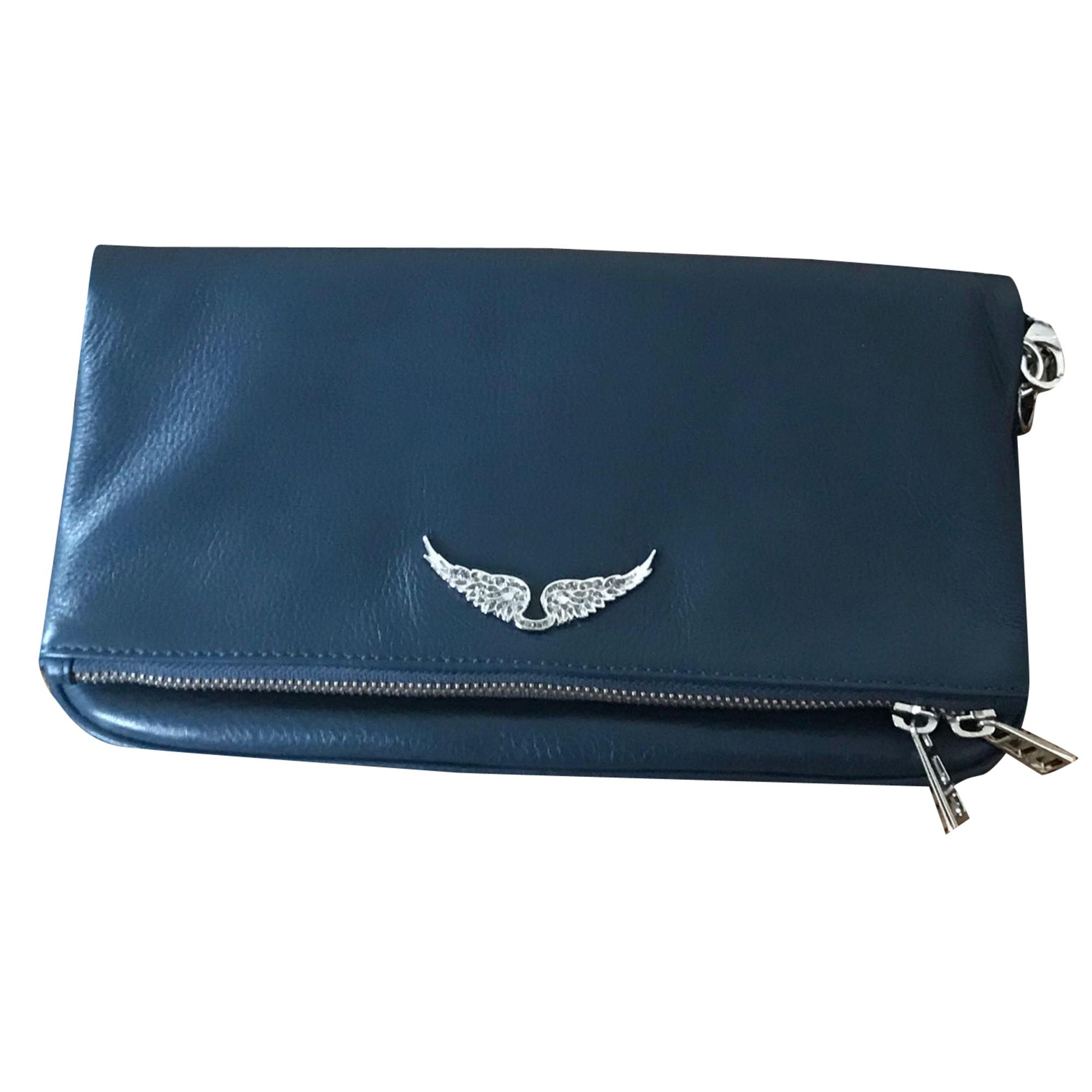 Sac pochette en cuir ZADIG & VOLTAIRE Bleu, bleu marine, bleu turquoise