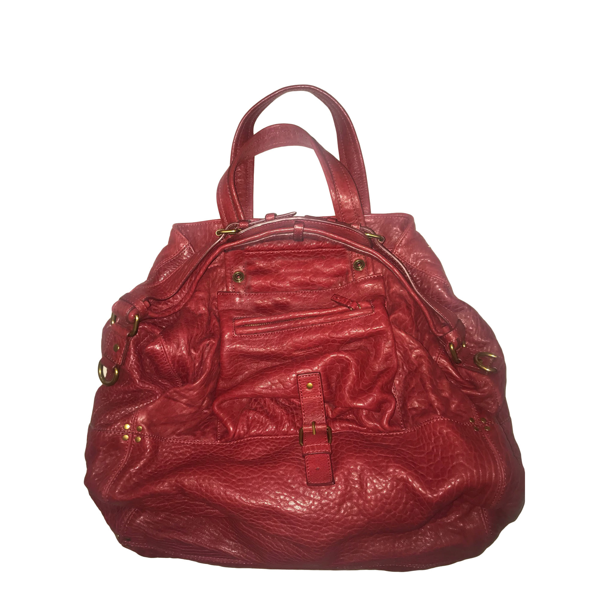 Sac XL en cuir JEROME DREYFUSS Rouge, bordeaux