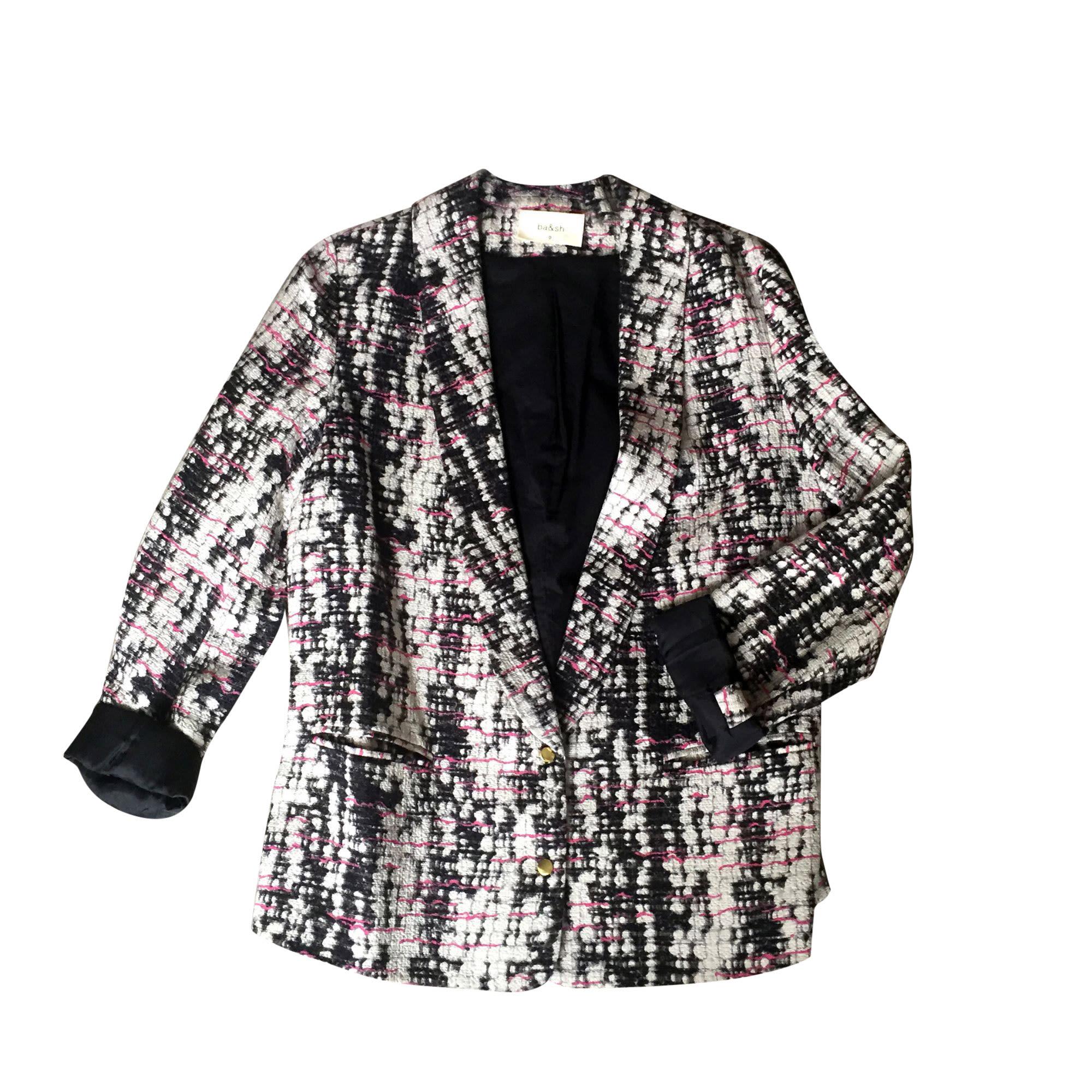 Veste BA&SH noir blanc  et rose fushia