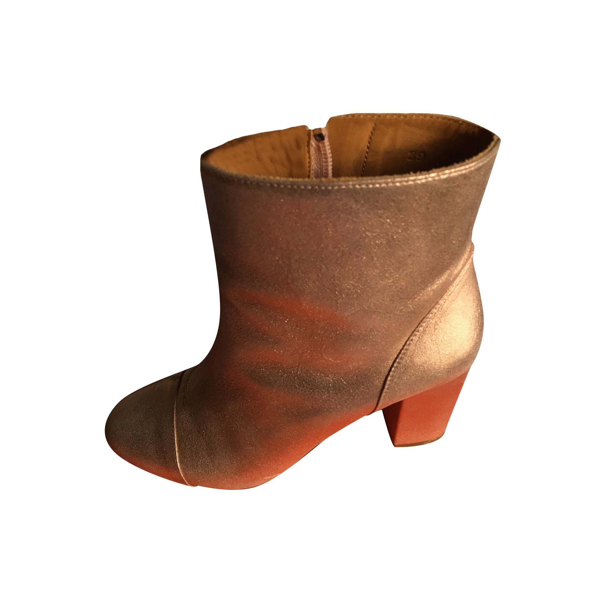 Bottines & low boots à talons BOBBIES Rose, fuschia, vieux rose