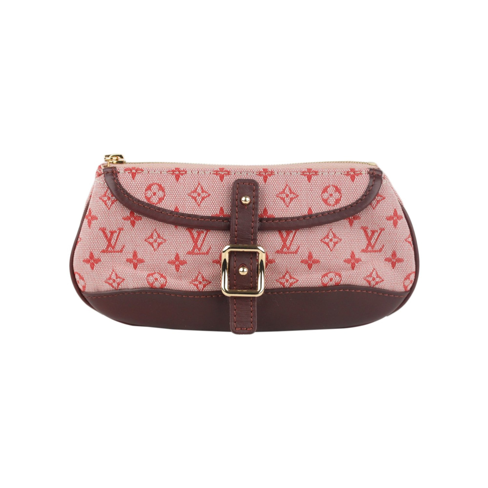 Non-Leather Clutch LOUIS VUITTON Red, burgundy