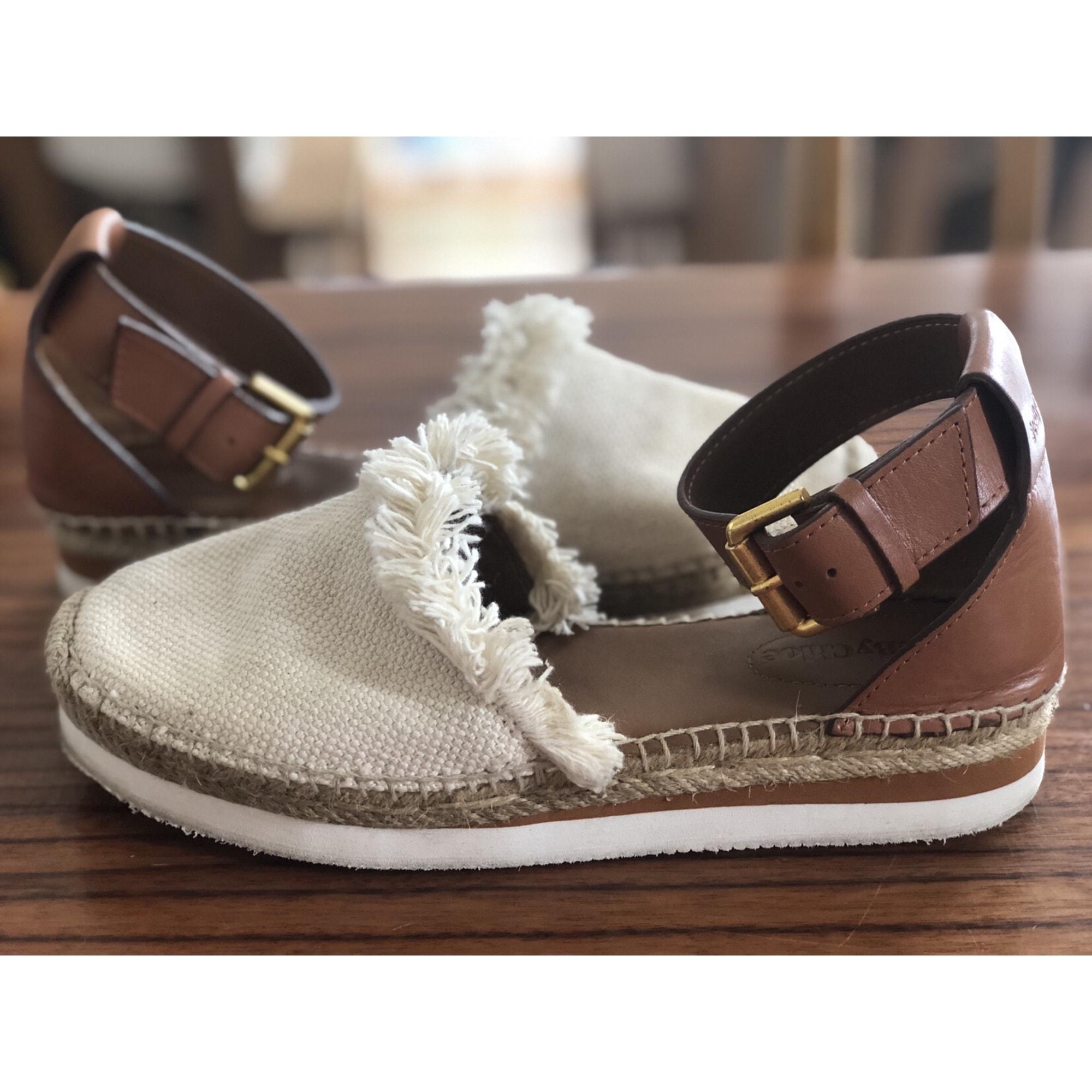 Sandales compensées SEE BY CHLOE Beige, camel
