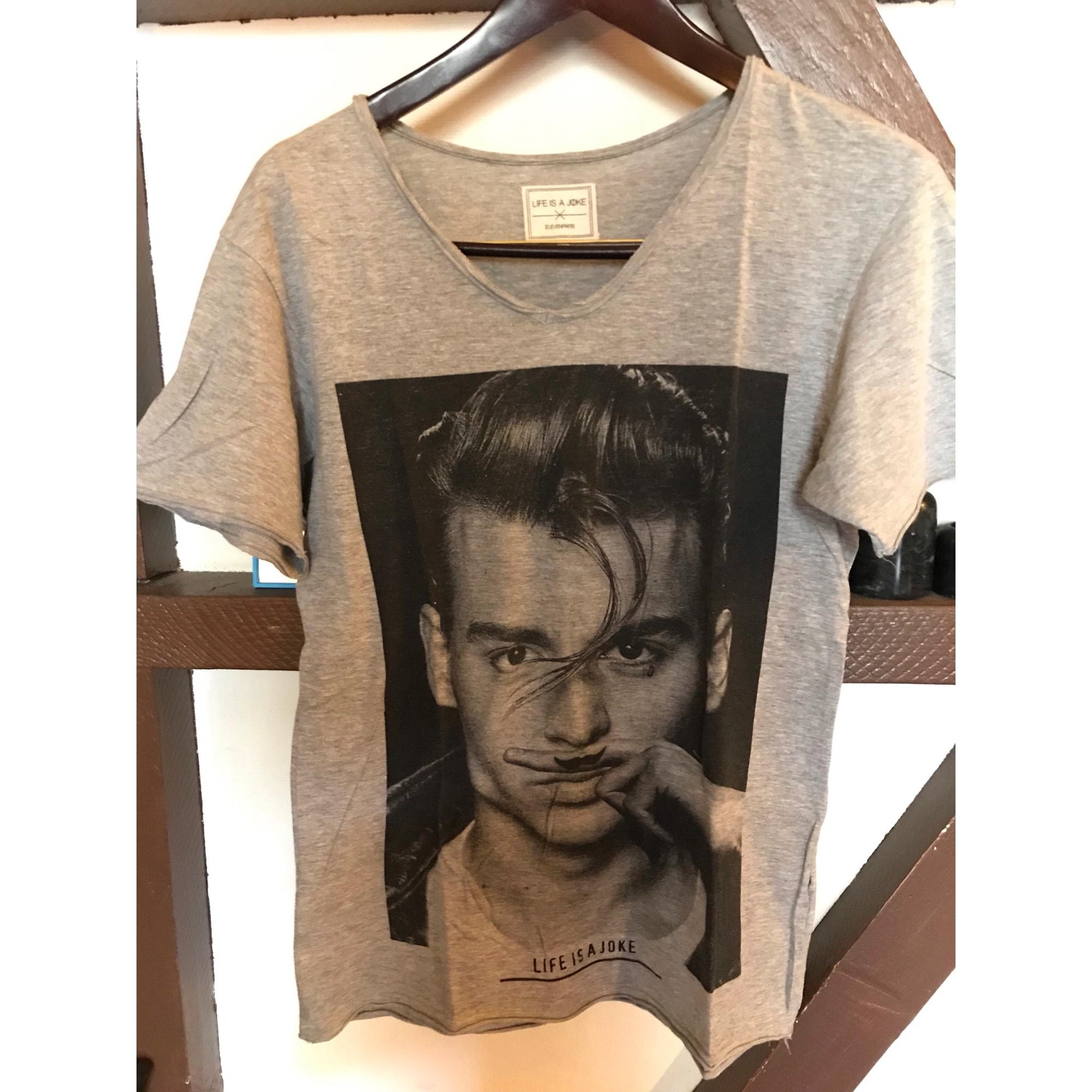 Top, tee-shirt ELEVEN PARIS Gris, anthracite