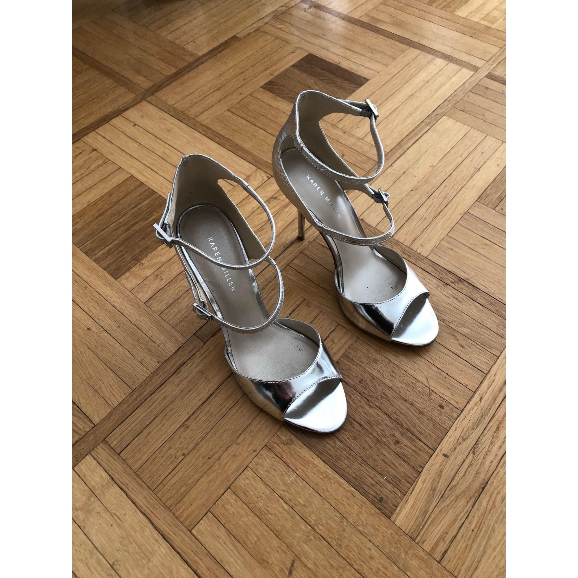 Heeled Sandals KAREN MILLEN Silver