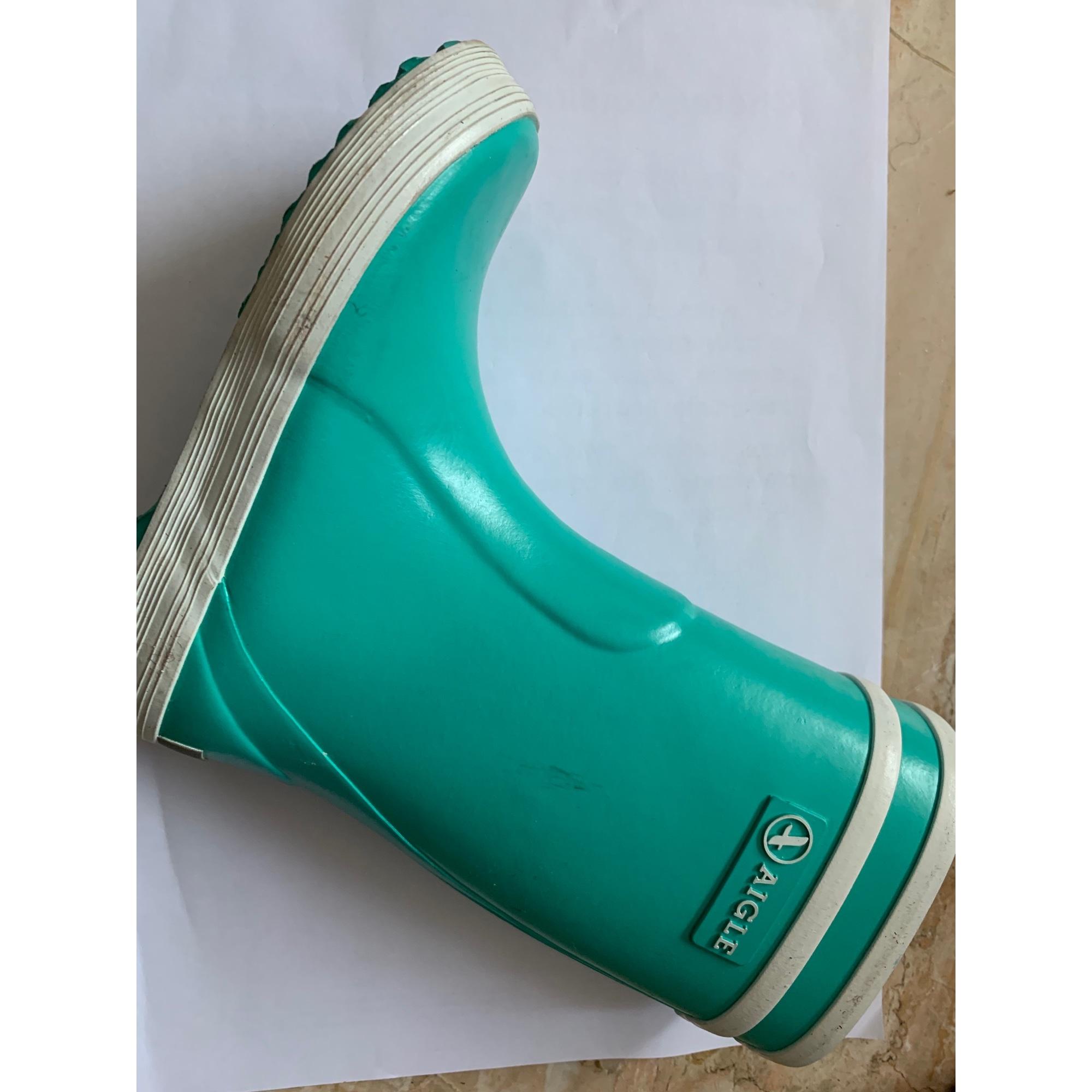 Bottes de pluie AIGLE caoutchouc vert 24