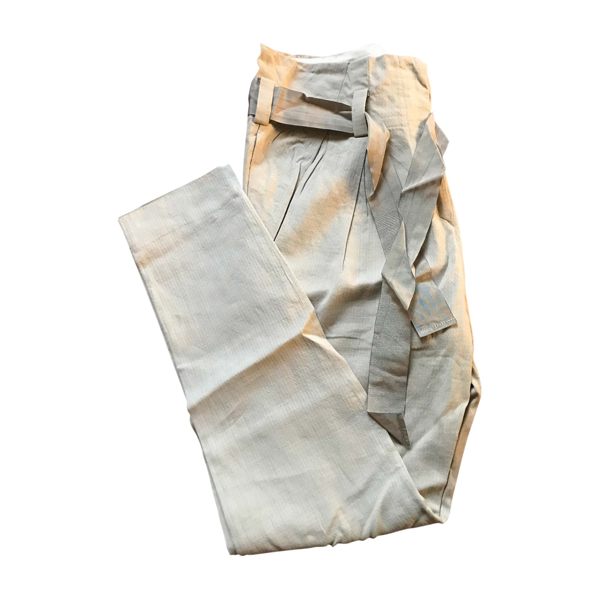 Pantalon carotte ISABEL MARANT Beige, camel