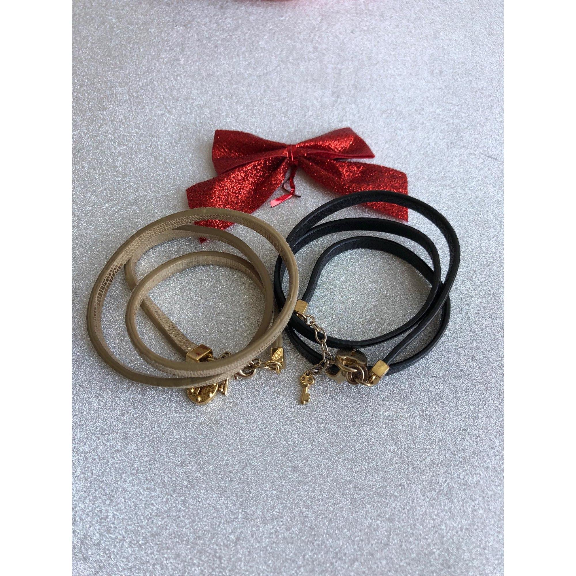 Bracelet JUICY COUTURE cuir doré